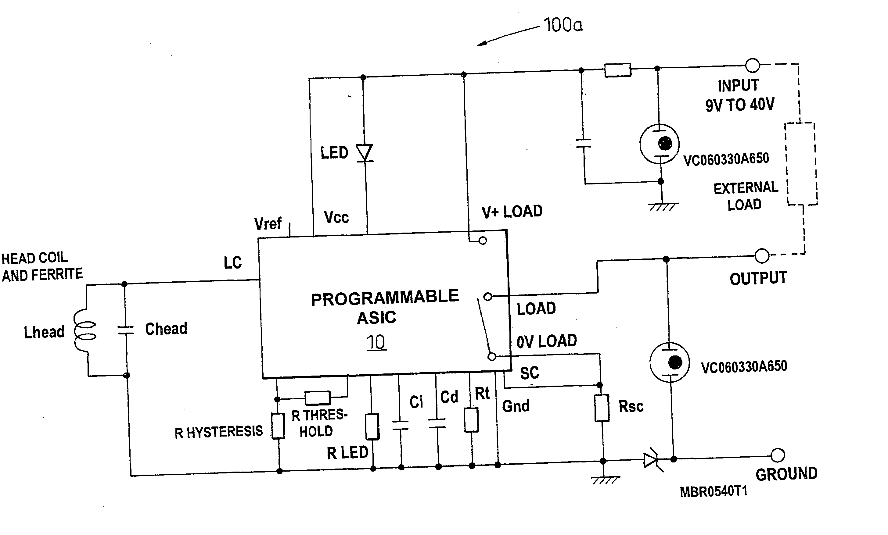 Wiring Diagram For Digital Proximity Sensors 44 Inductive Switch 3 Wire Us20030164697a1 20030904 D00000 Patent Us20030164697 Sensor And Related At Highcare
