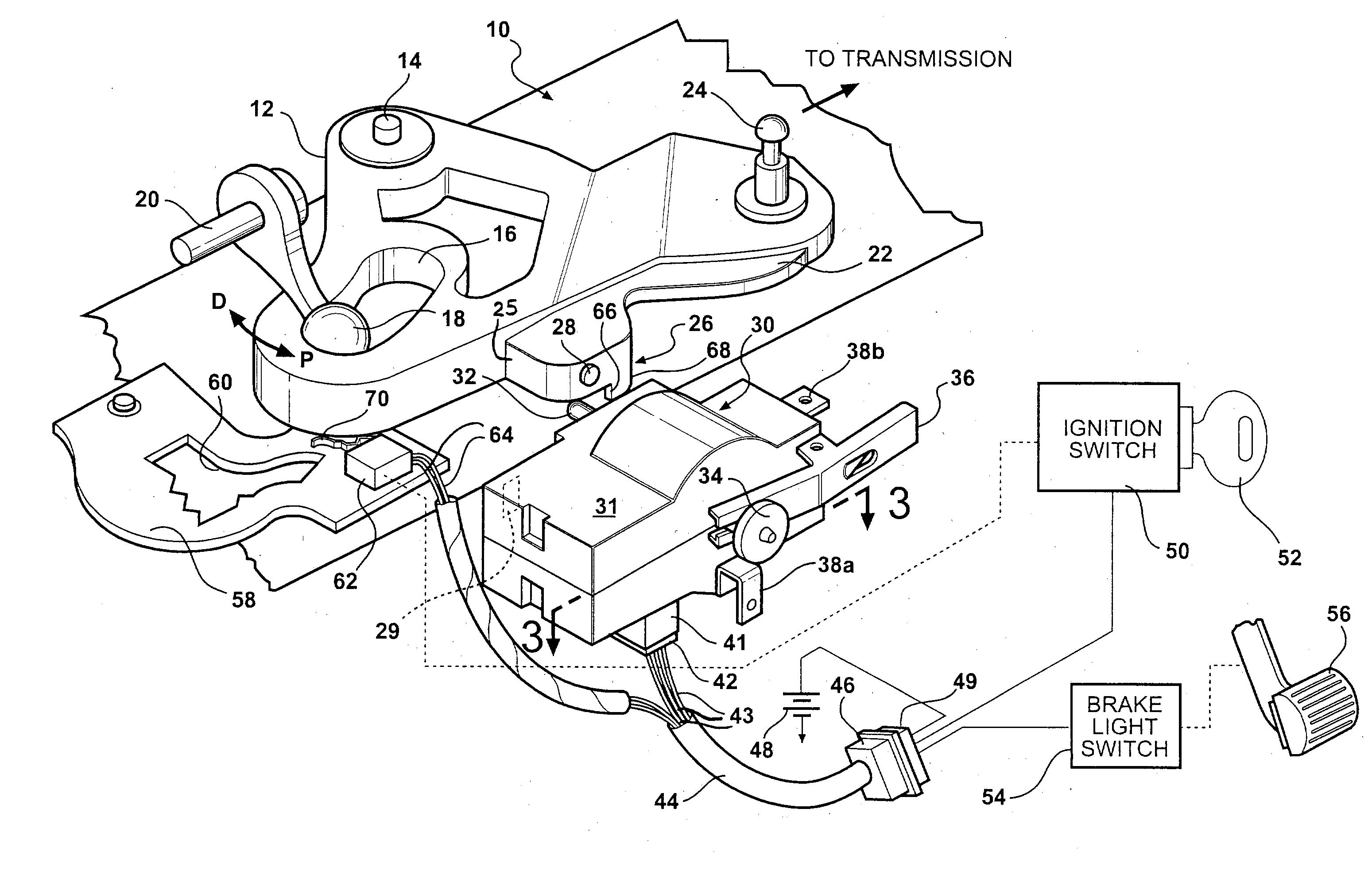 patent us20030195082 brake transmission shift interlock and park Fiat 124 Carburetor patent drawing