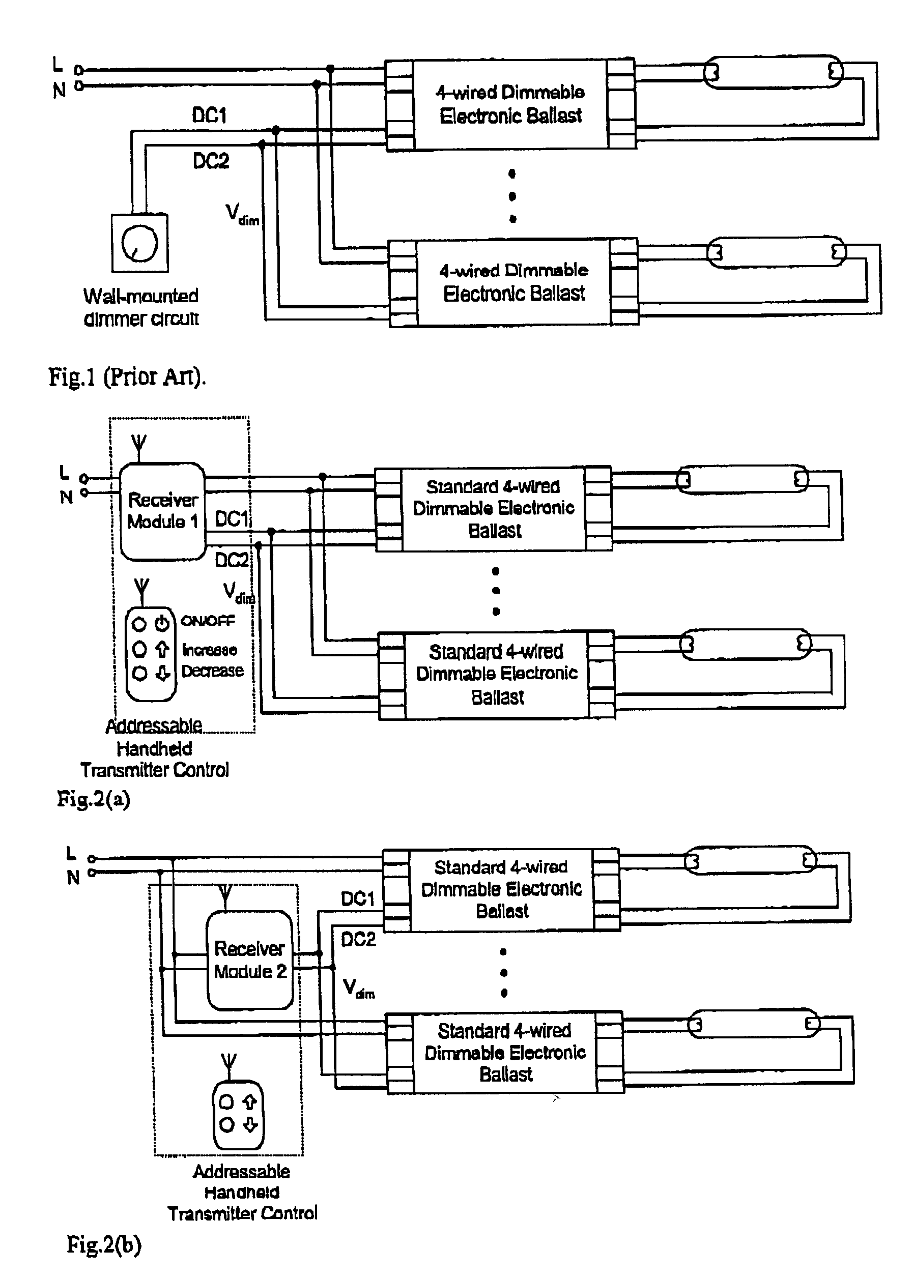 patent us20030209999 - wireless remote control systems for ... advance mark 7 dimming ballast wiring diagram #5