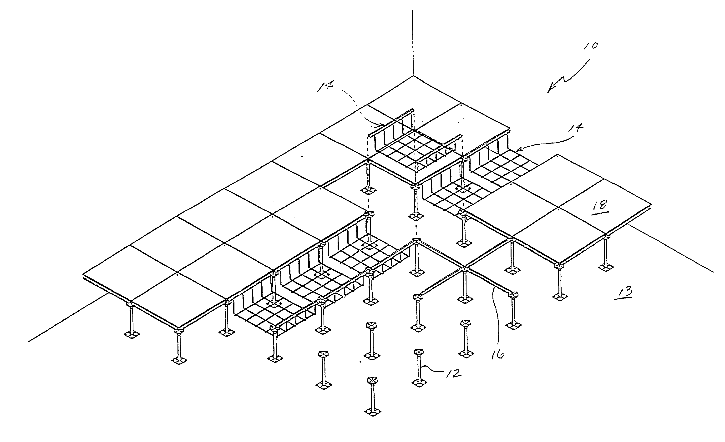 Floor Elevation False : Patent us  cable support apparatus for a