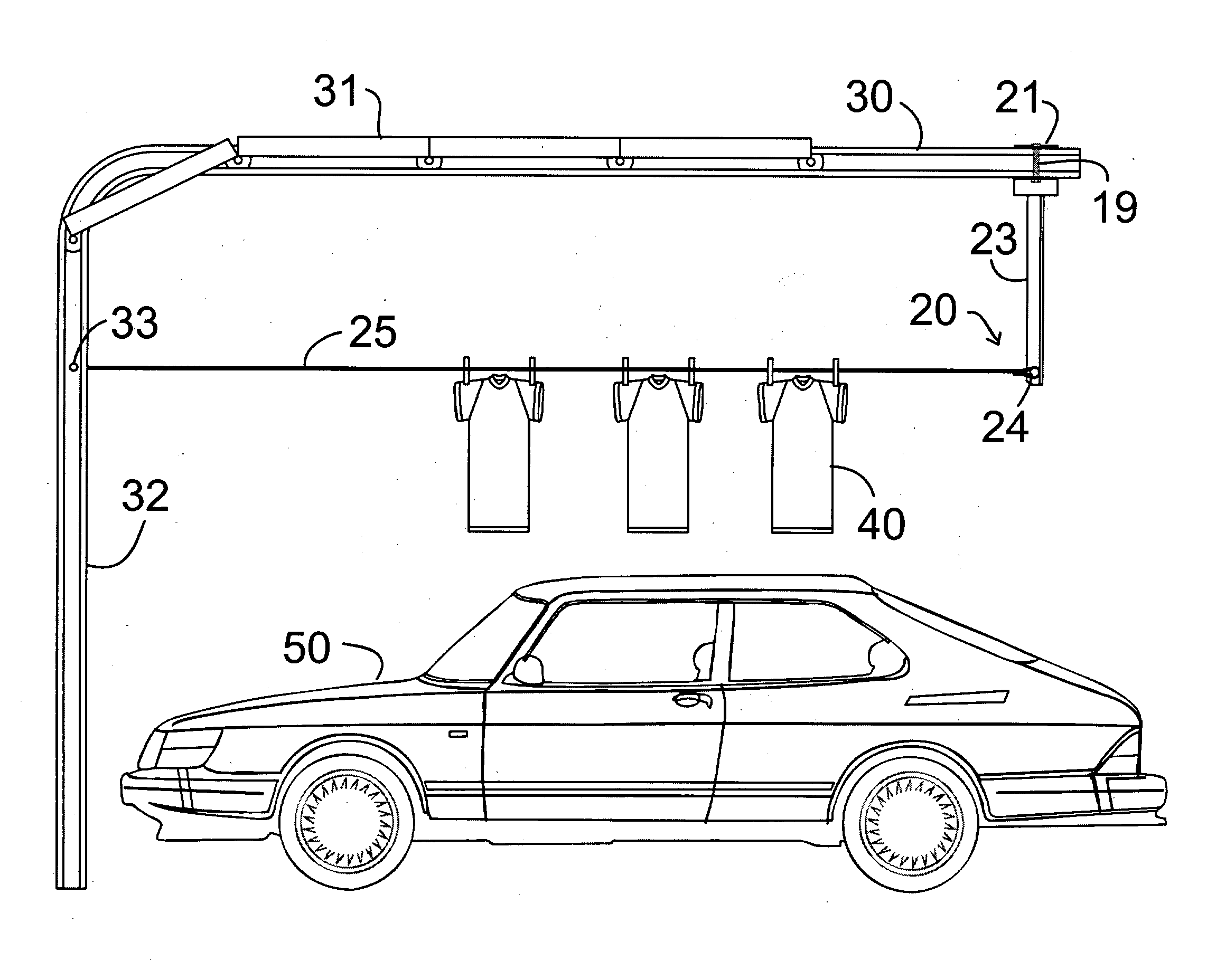 Patent Us20030213763 Garage Door Track Clothesline