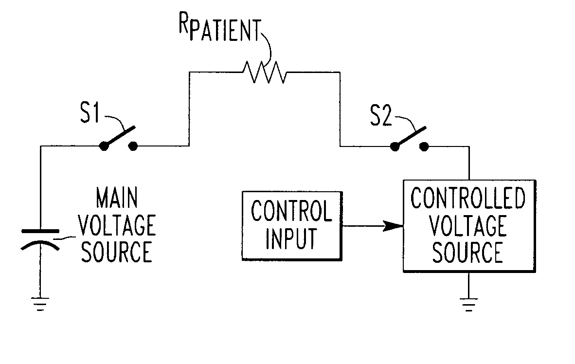 Patent Us20030216786 Circuit For Producing An Arbitrary Diagram Voltage Source Drawing