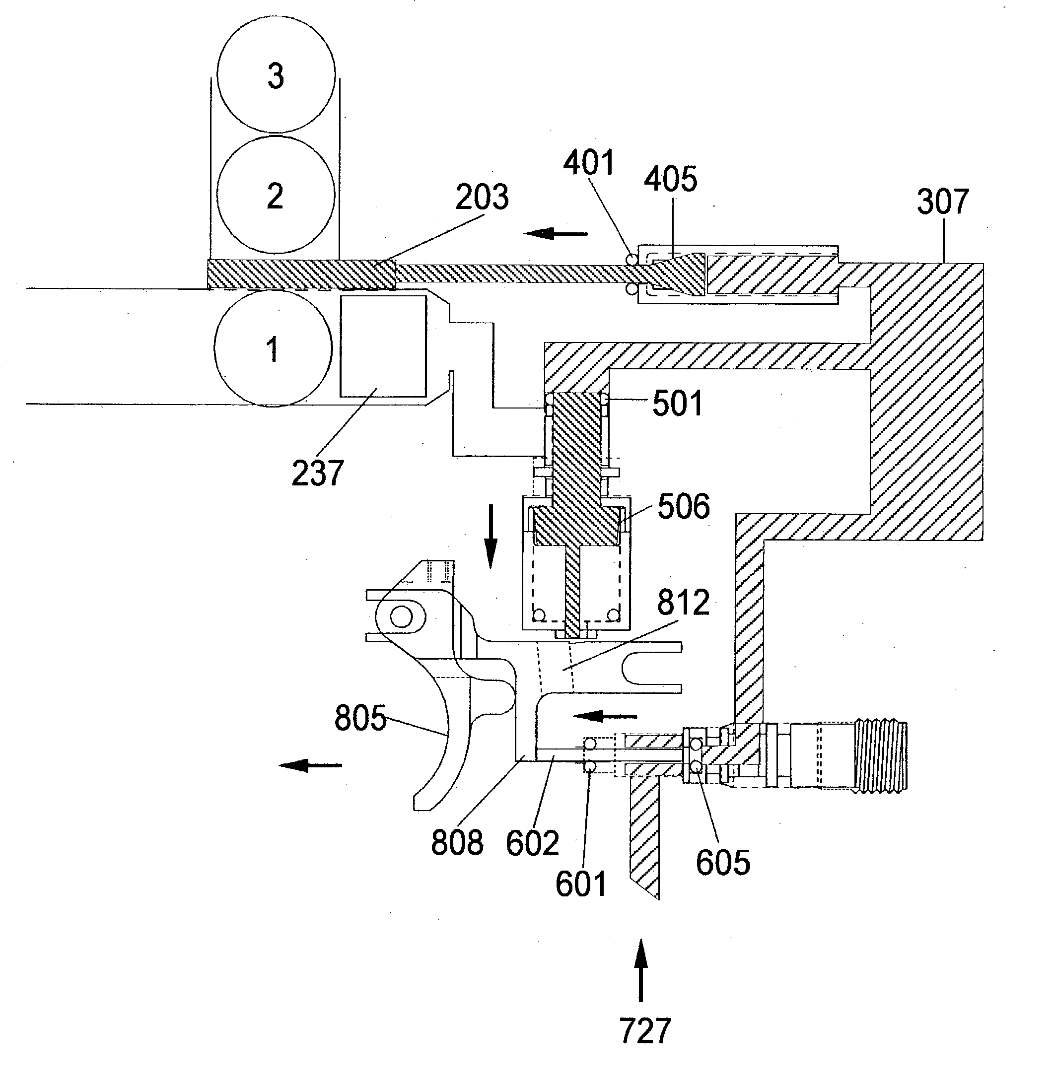 Patent Us20030226555 Pneumatic Projectile Launching Apparatus With Tippmann 98 Custom Parts Diagram Drawing