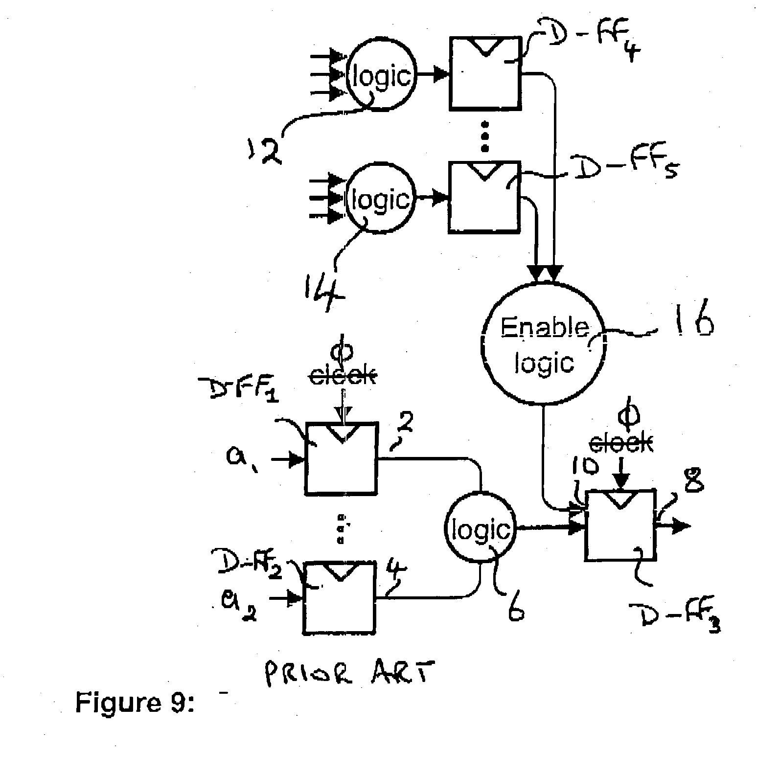 patent us20040004504 control of guard flops patents Latch Relay patent drawing