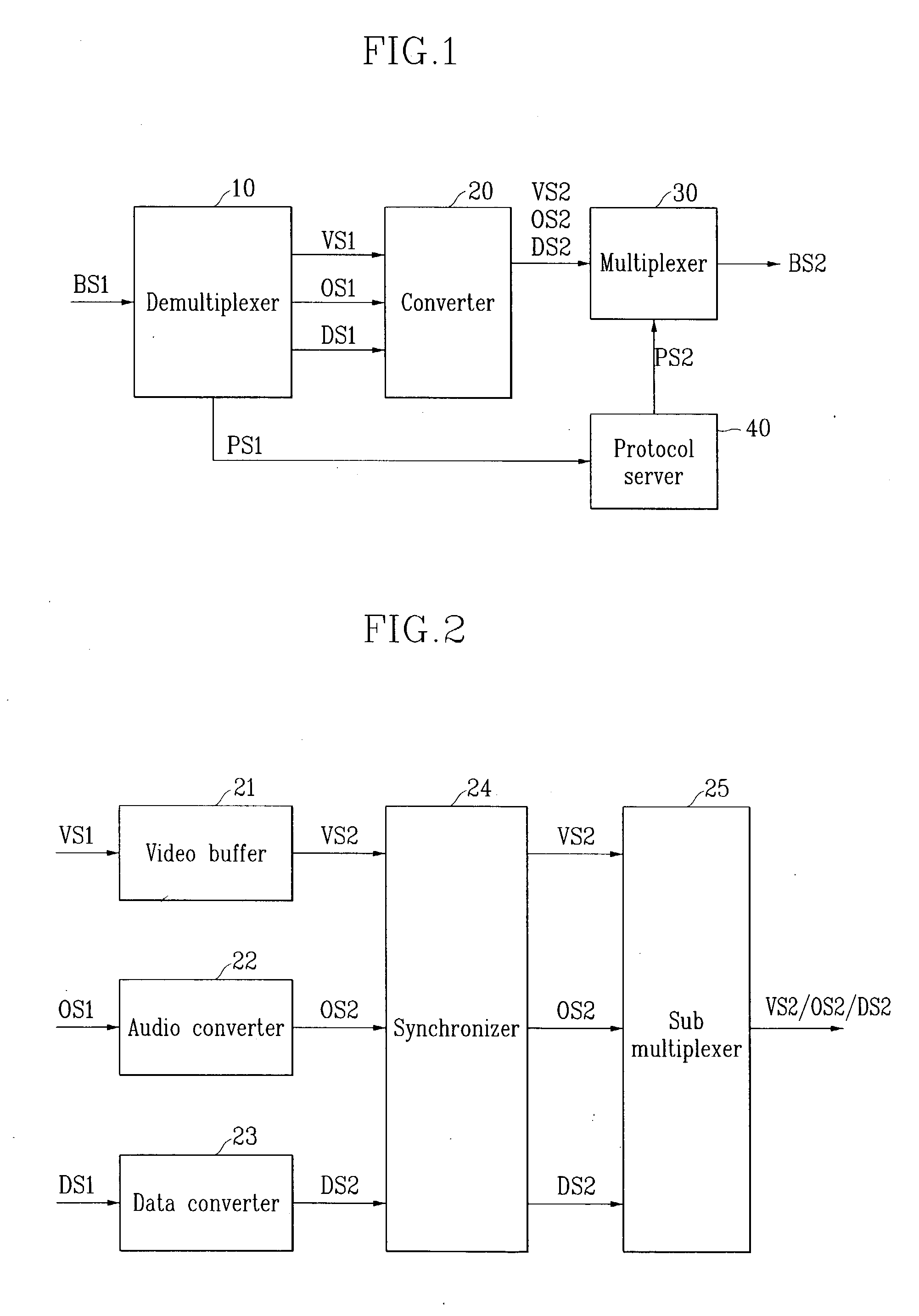 Patent Us20040013270 Apparatus And Method For Converting Contents Figure 1 Block Diagram Of The Mpeg Multiplexer Drawing