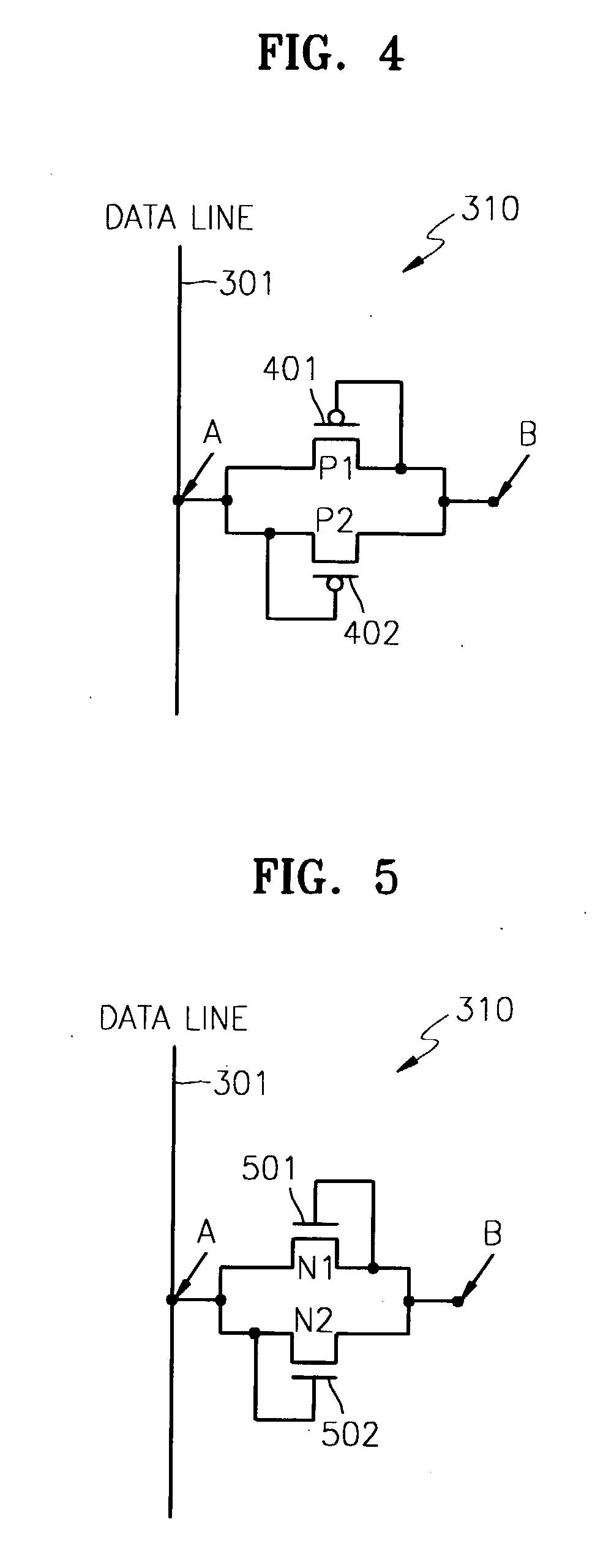 patent us20040051685 - active matrix organic light emitting diode display panel circuit