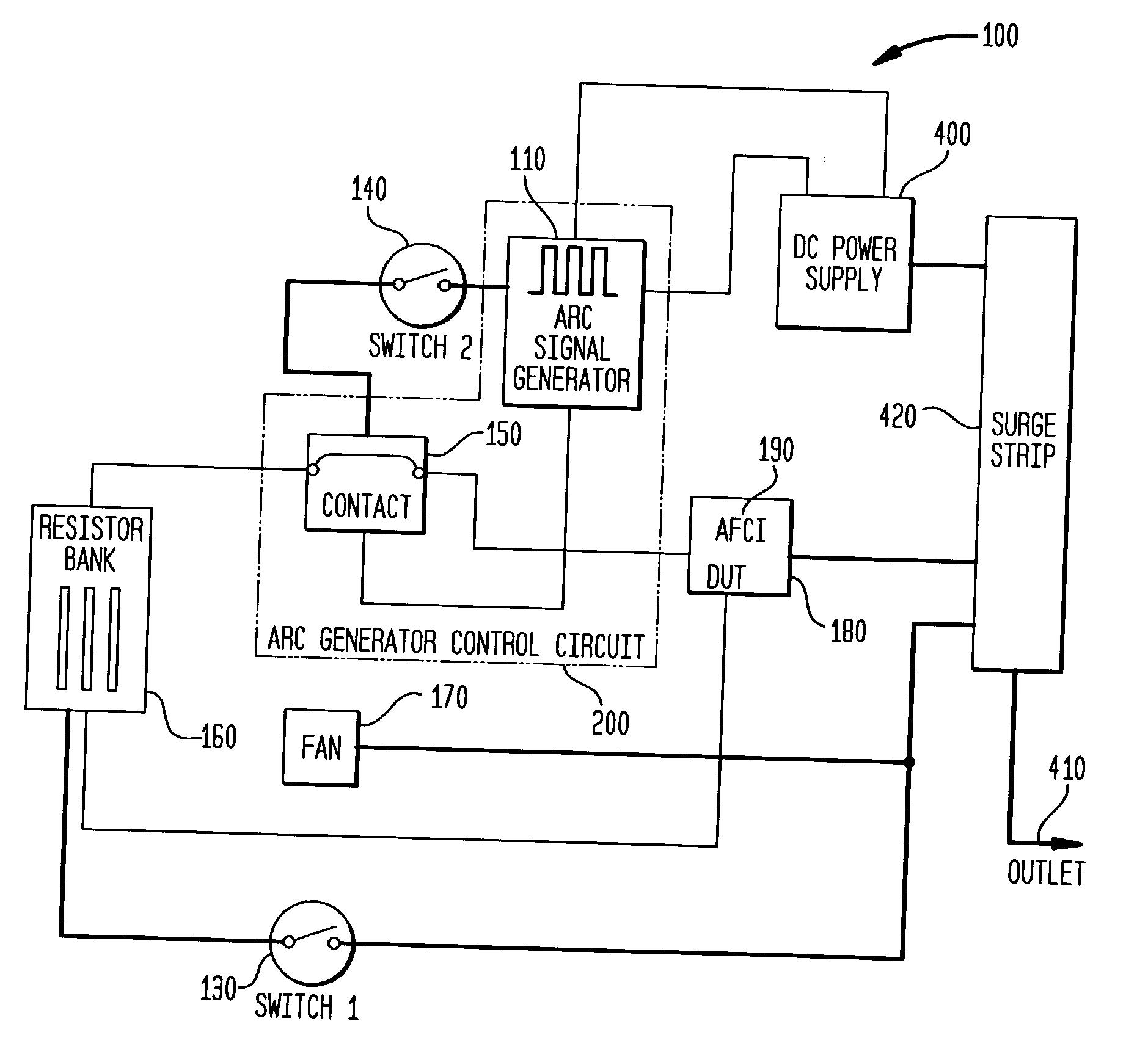 patent us20040100274 - arc fault tester