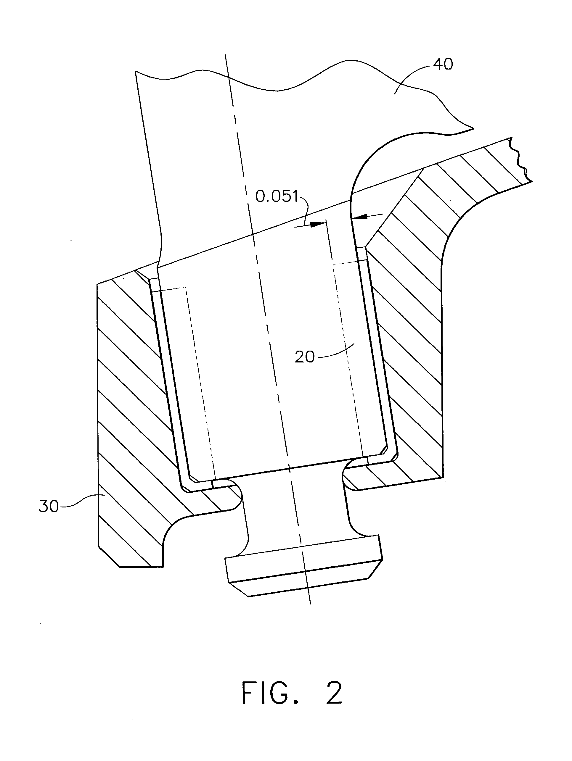 patent us20040120618 - inlet guide vane bushing having extended life expectancy