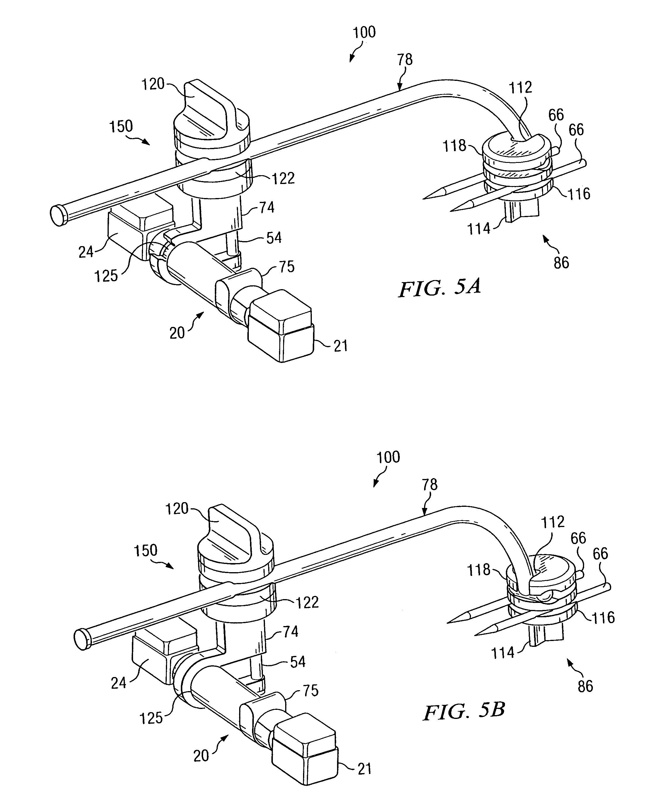 patent us20040133200 apparatus and method for maintaining bones in External Fixator Pin patent drawing