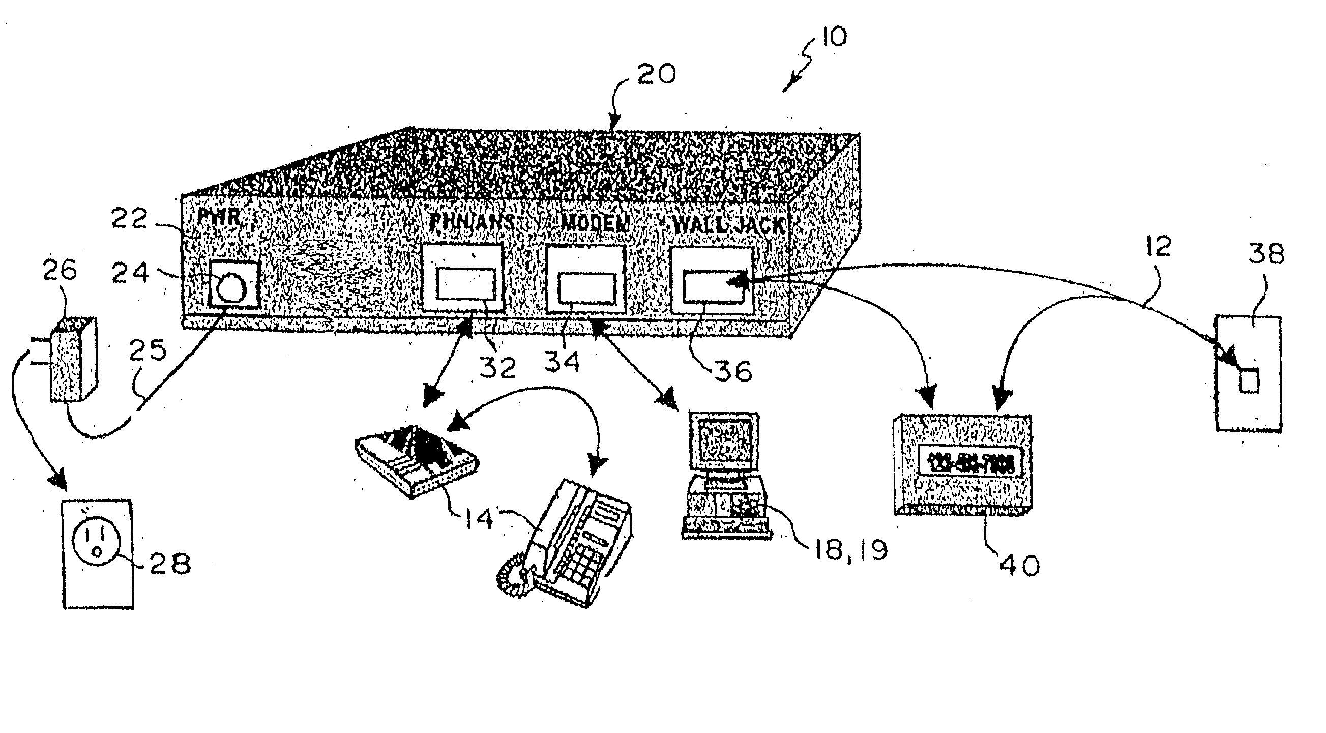 Patent US20040151286 - Self-contained single telephone line voice