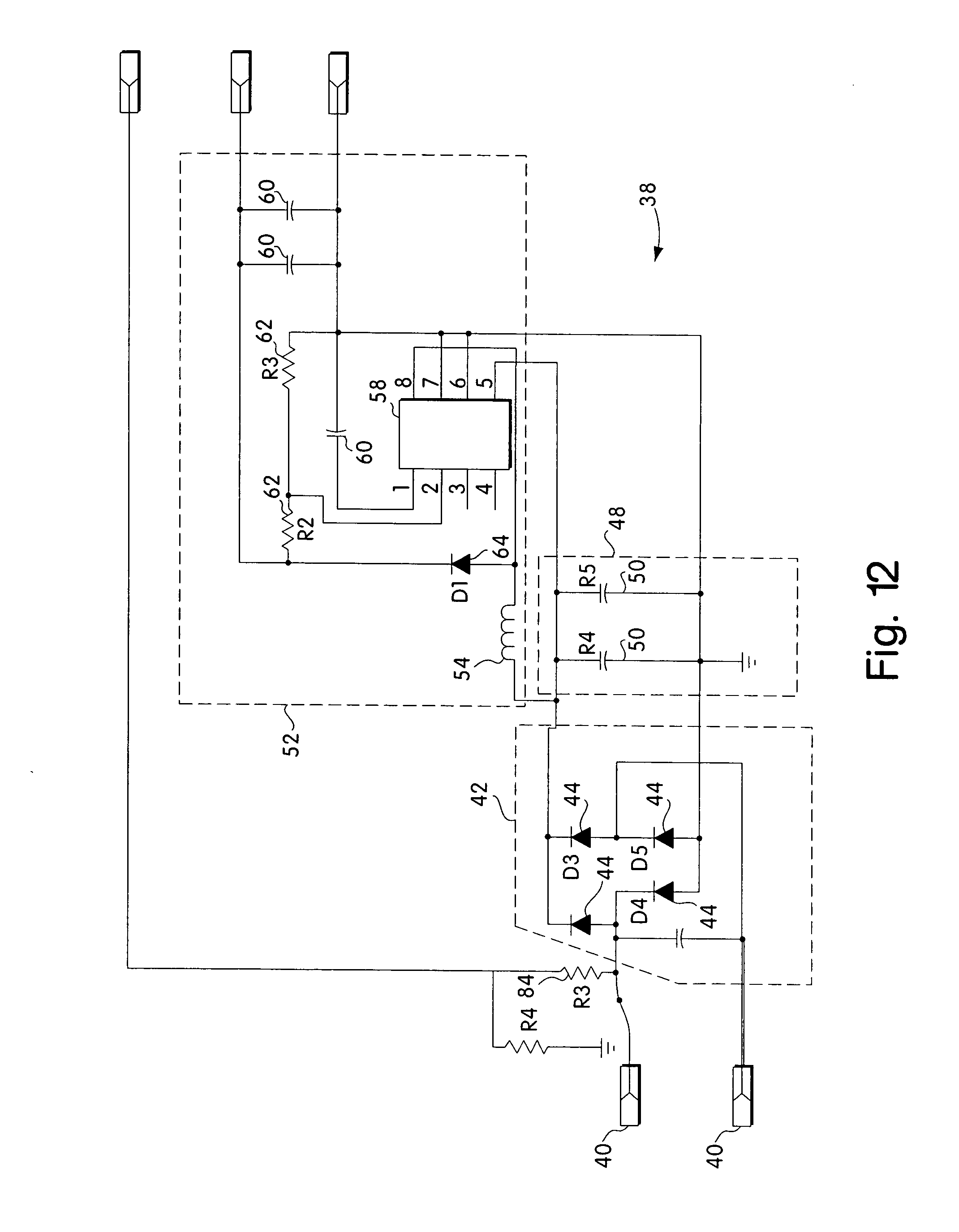Patente Us20040155609 Data Delivery Track Google Patentes 1009 Military Wiring Harness Diagram Patent Drawing