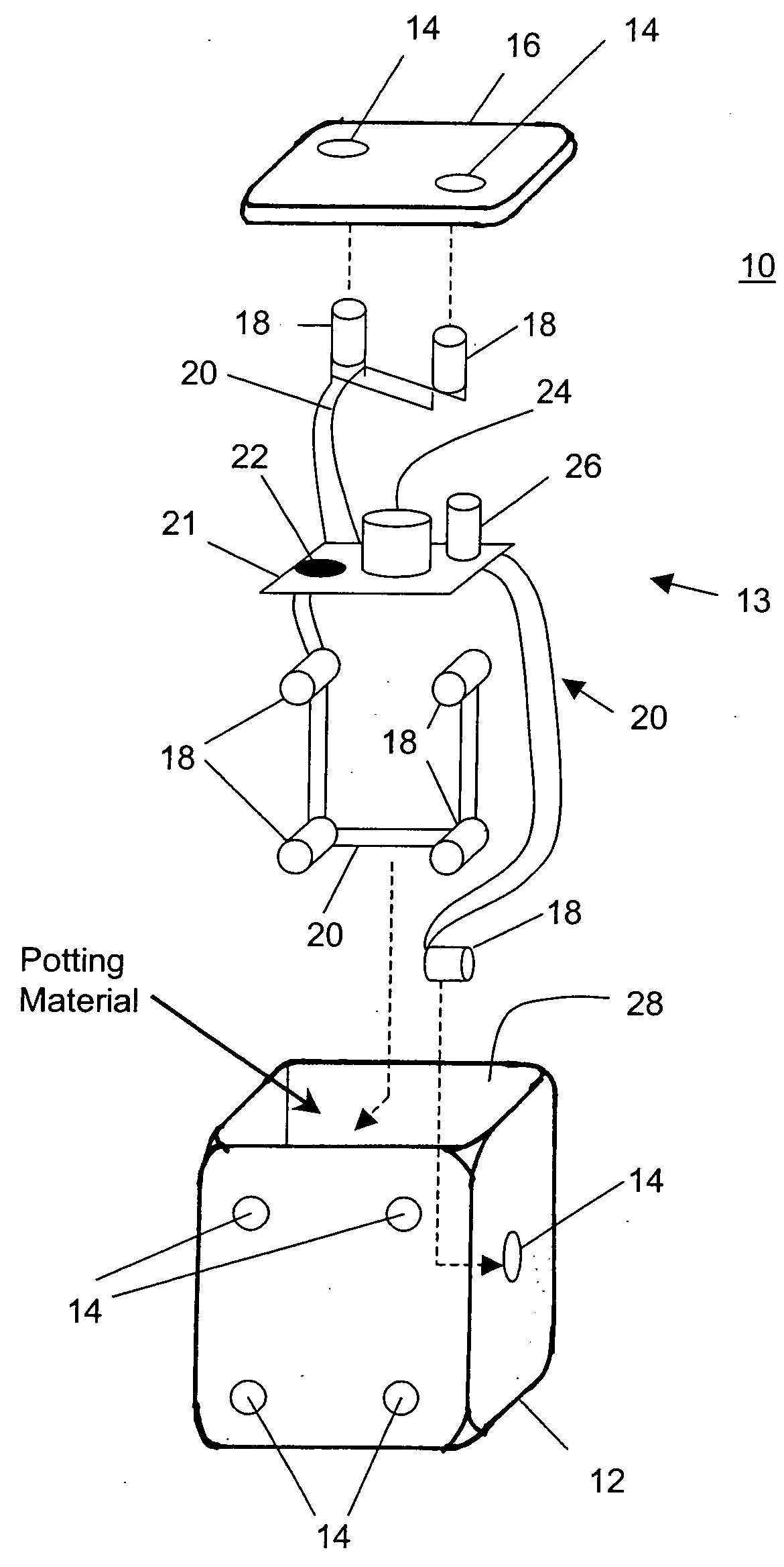patent us20040160000 - electronic die
