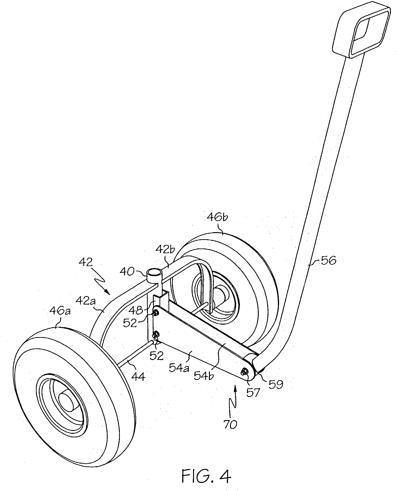 patent us20040164512 wagon and steering assembly patents 24 FT Stake Bed patent drawing