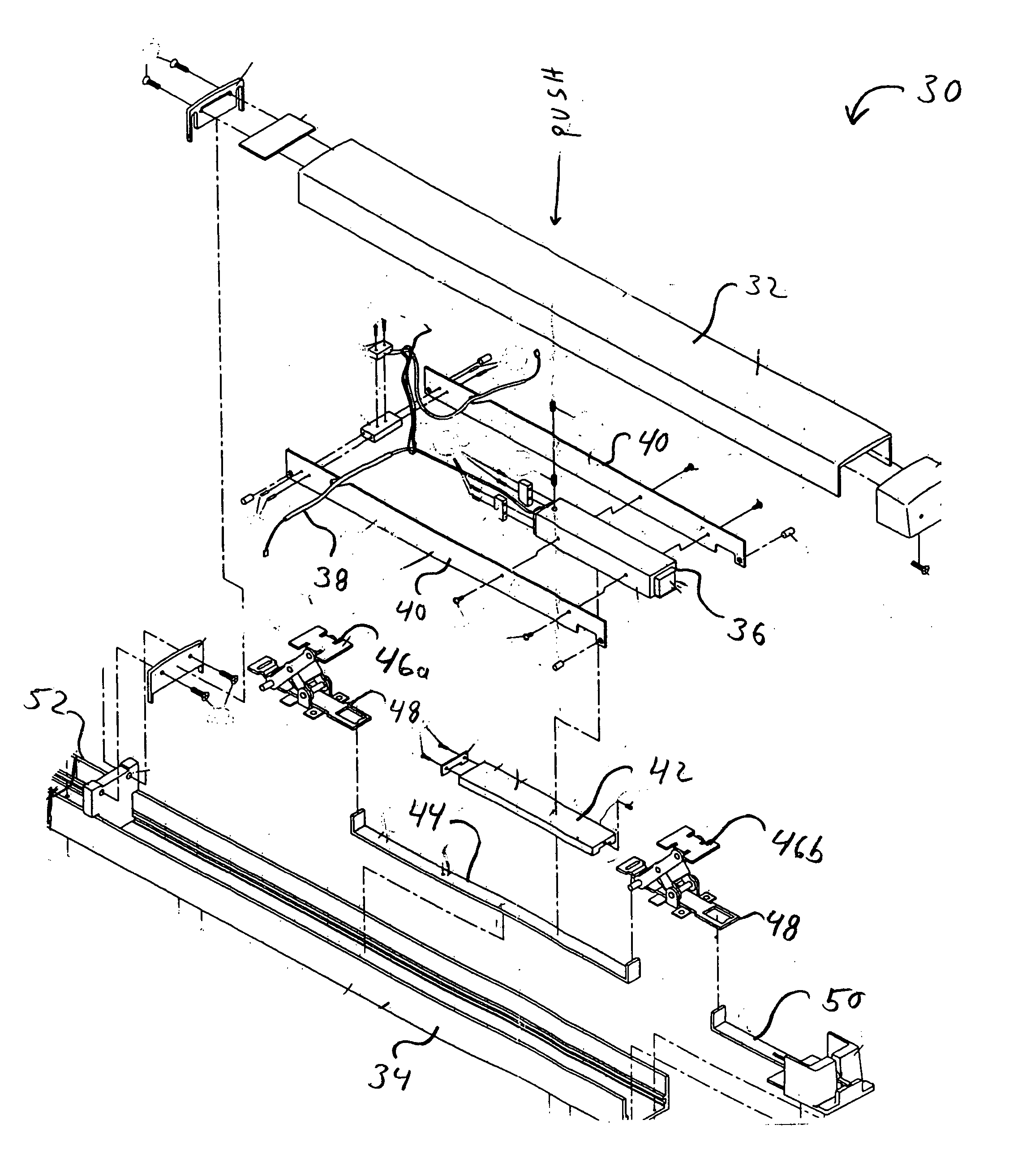 Patent Us20040189018 Push Bar Locking Mechanism With