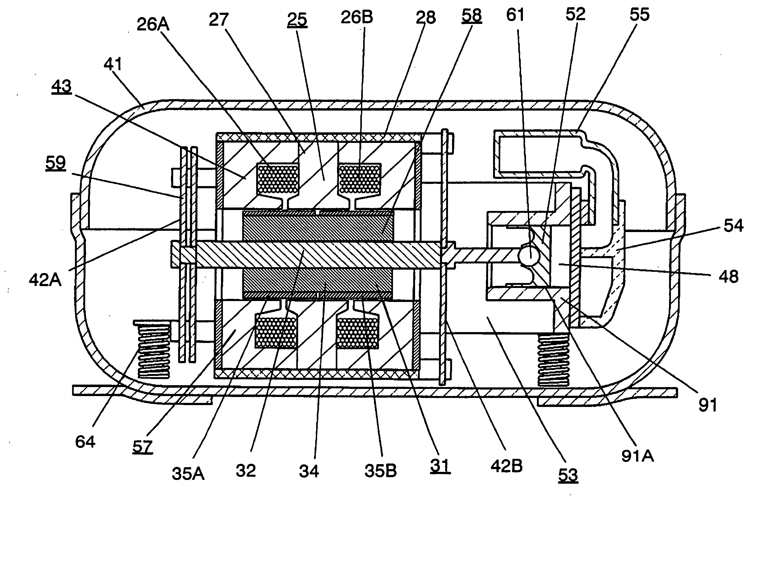 patent us20040251748 - linear motor, and linear compressor ... eagle andco linear actuator wiring diagram #1