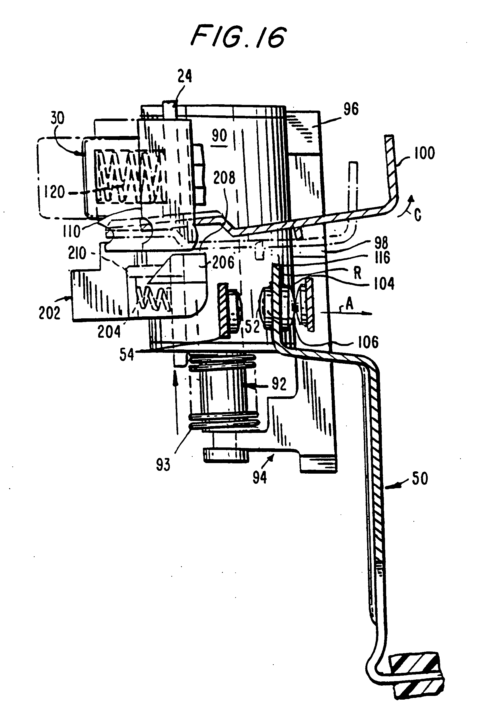 patent us20050002138 - ground fault circuit interrupter with locking reset button