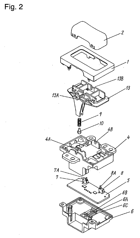 brevet us20050006214 rocker switch brevets To Light Switch Wiring Diagram for Light patent drawing