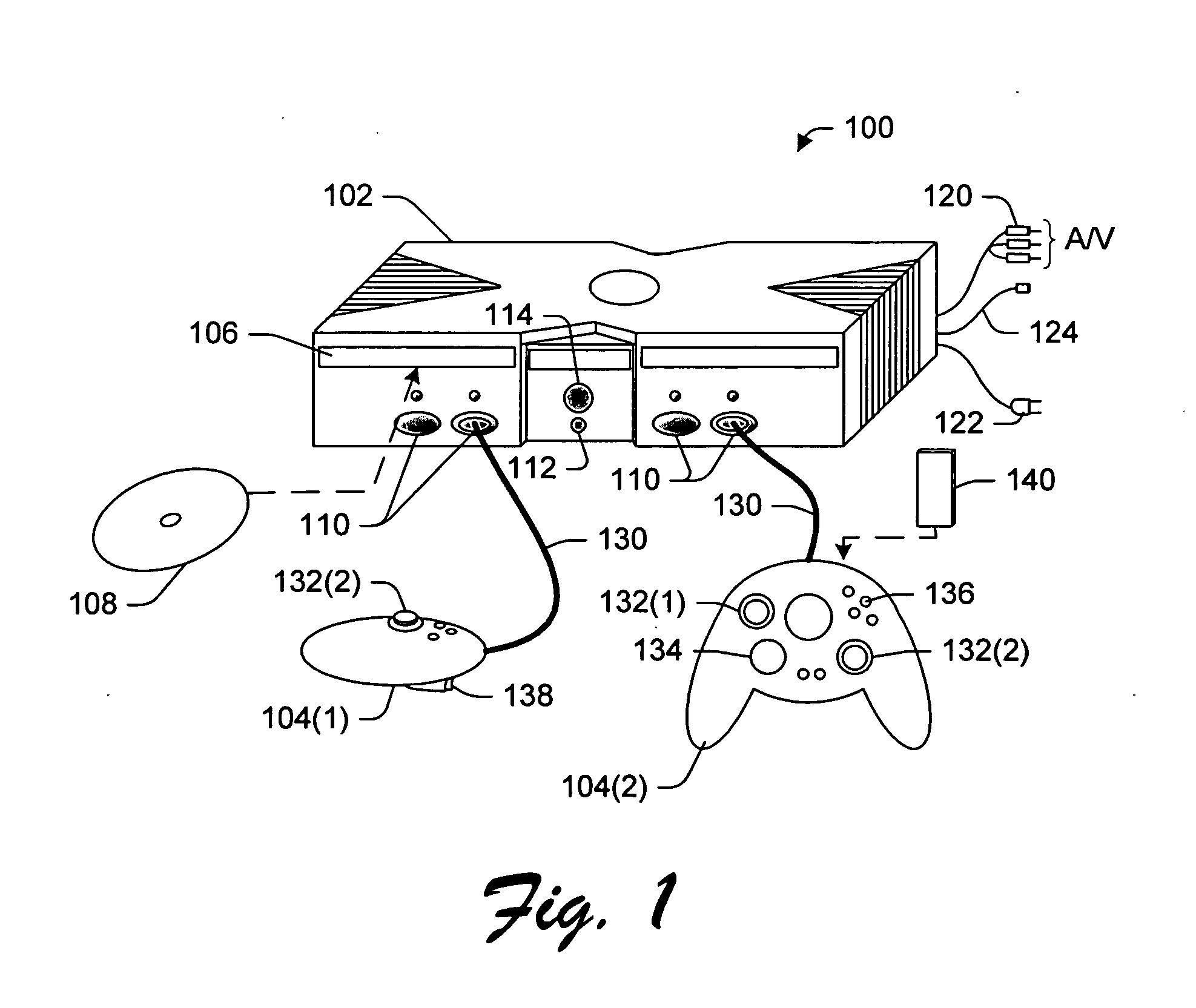 Patent Us20050026686 Method And Apparatus For Creating Playing Ata 110 Wiring Diagram B Walkthrough Drawing