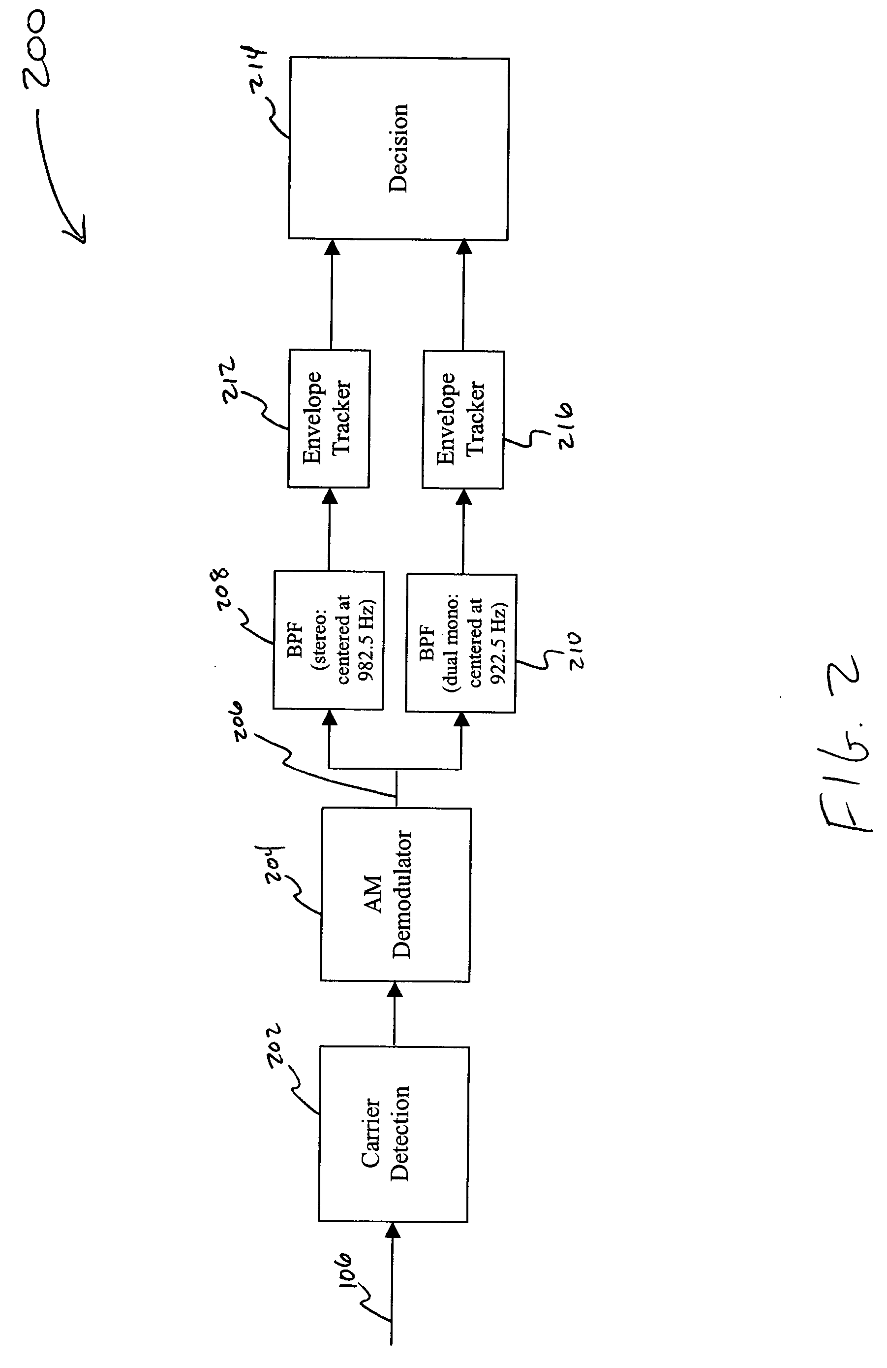 Us20050047603 Method And System For Detecting Envelope Detection Based Am Demodulation Circuit Diagram Patent Drawing