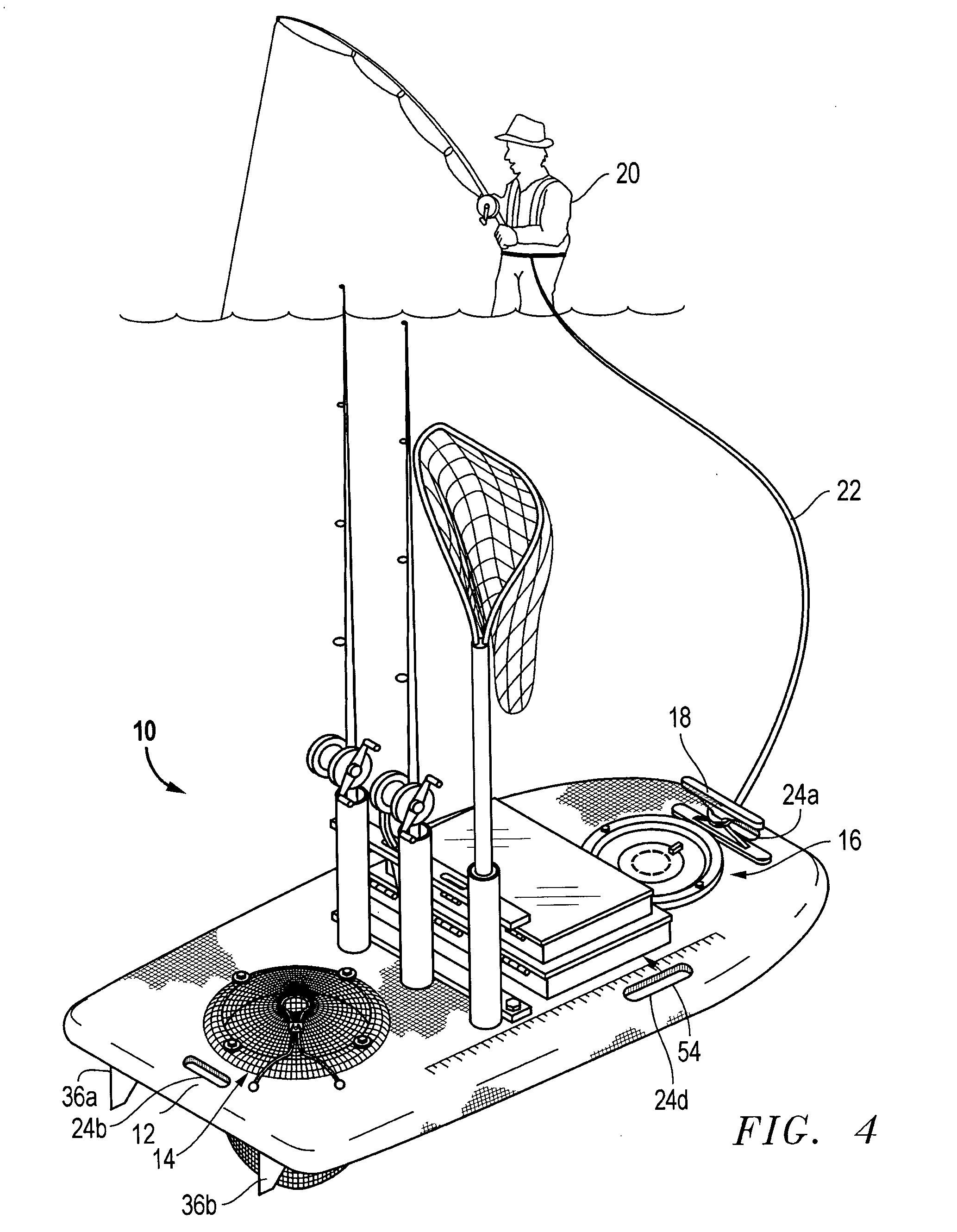 Patent us20050055869 fishing apparatus google patents for Wade fishing gear
