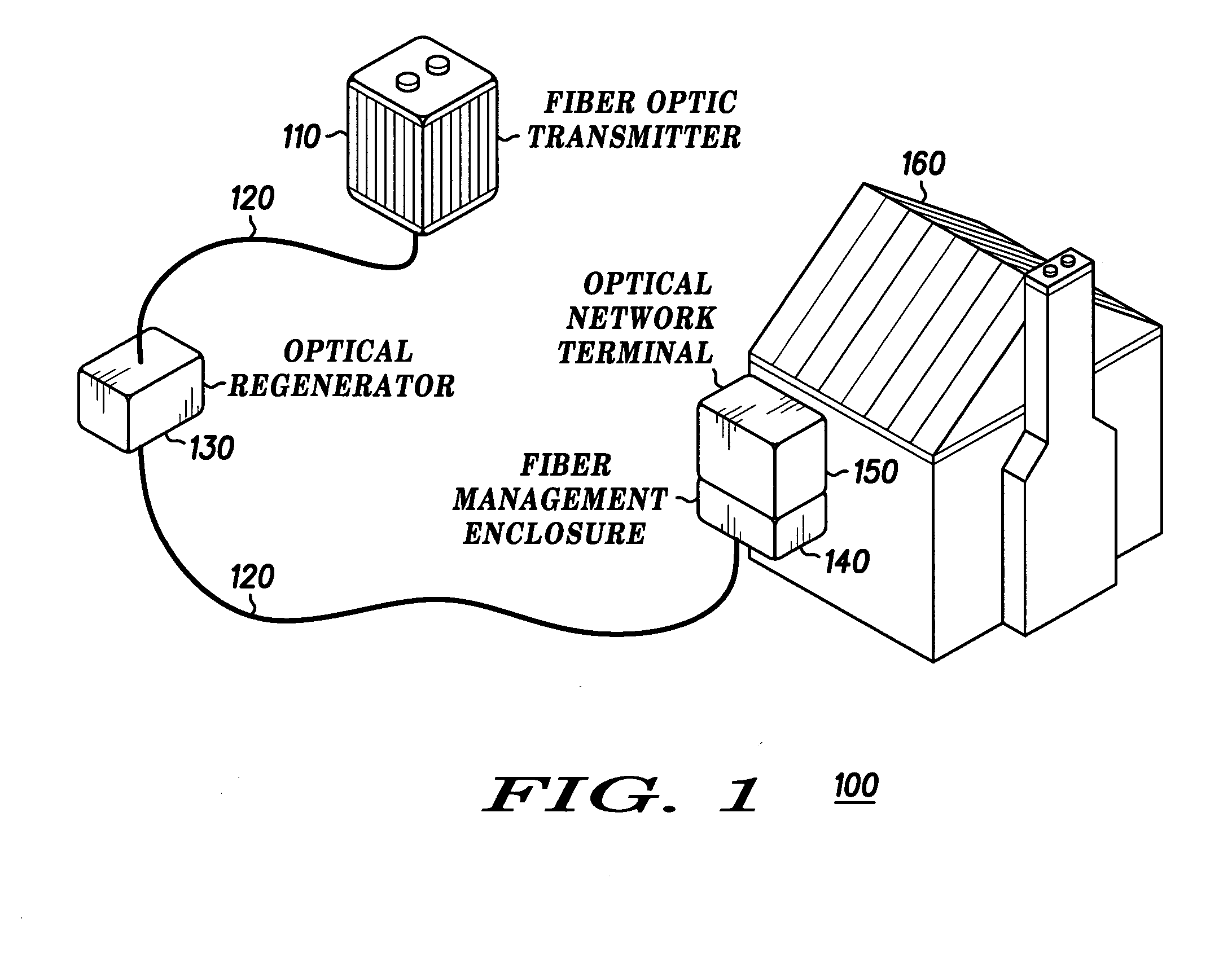 patent us20050094959 - fiber optic cable managemetn enclosure and method of use