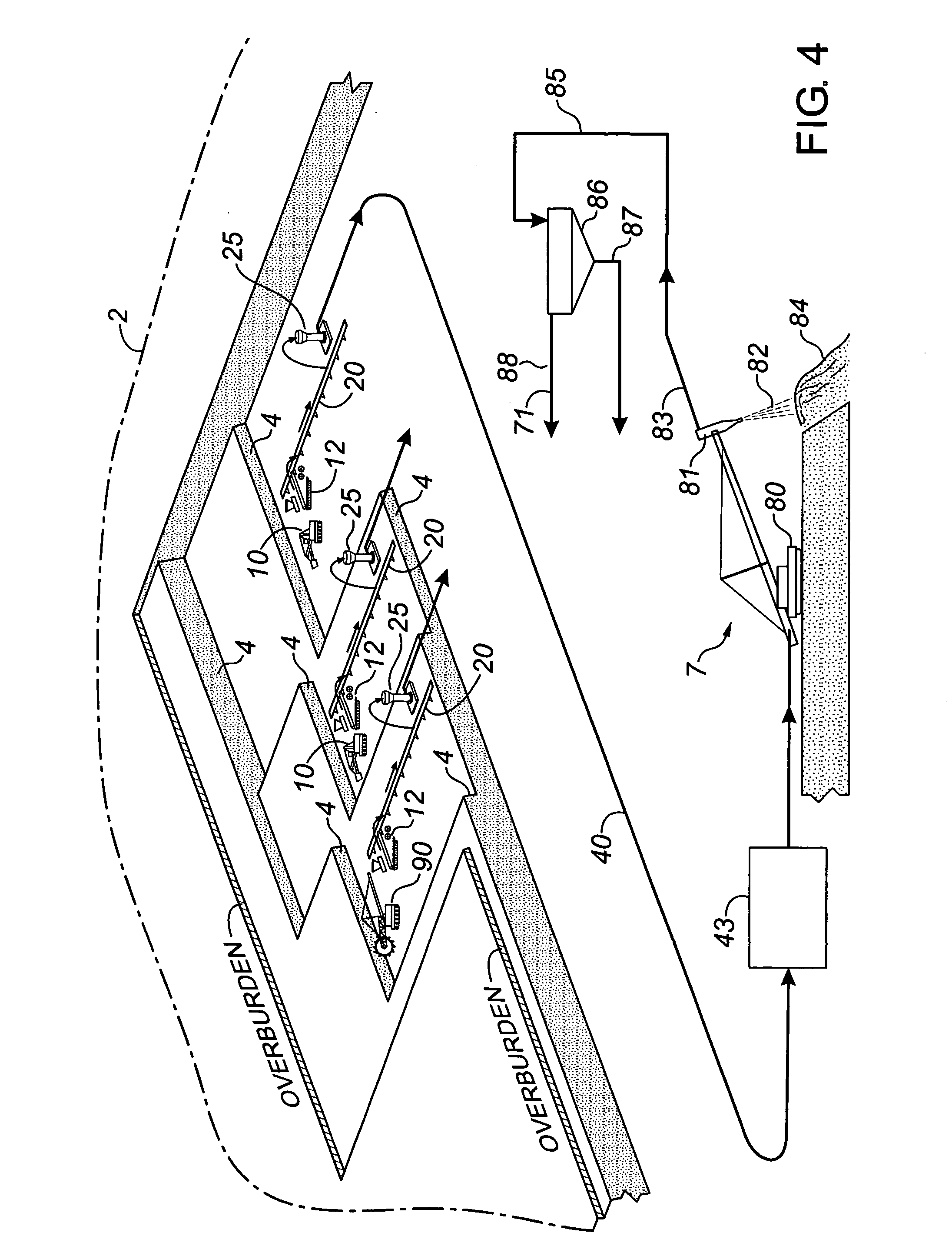 patent us20050134102 mine site oil sands processing patents Oil Water Seperator patent drawing