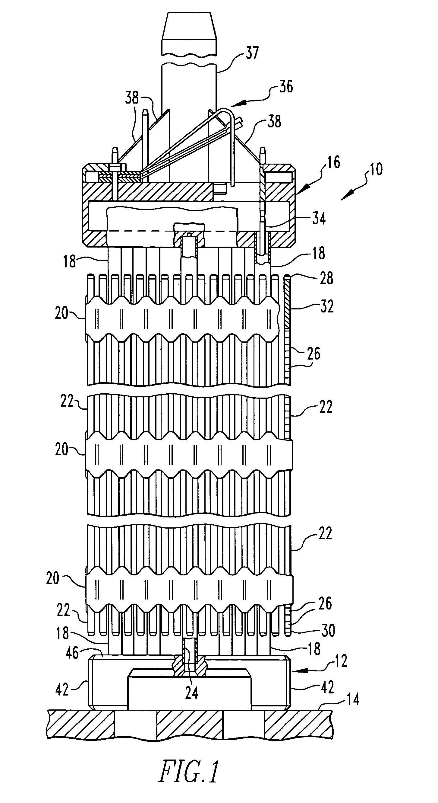 patent us20050157836 - nuclear fuel assembly debris filter bottom nozzle