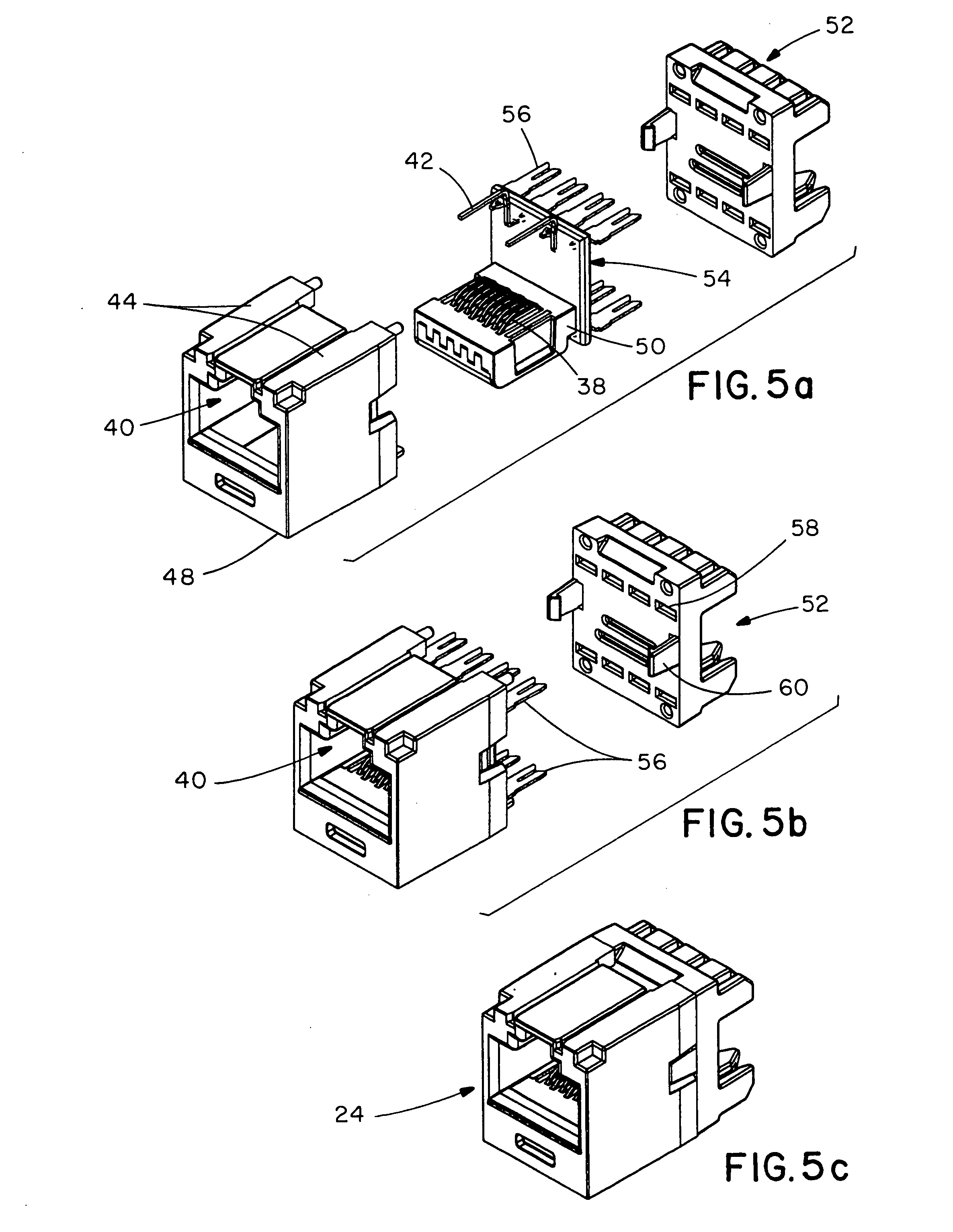 patent us20050159036 communications patch panel systems and on lan wall jack schematic