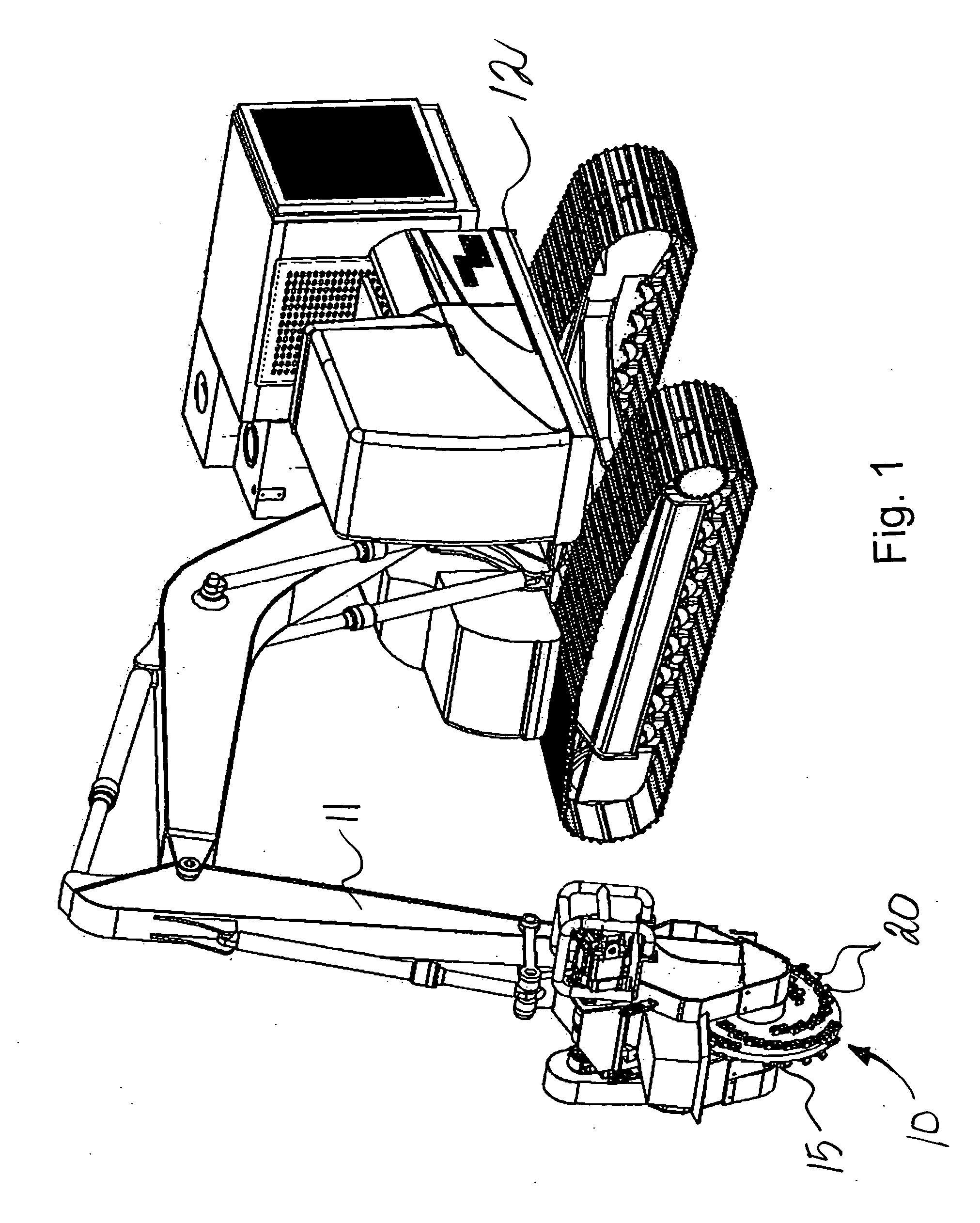 Patent Us20050166997 Stump Cutting Device With Load Distributing Vermeer 630A Grinder Parts Drawing