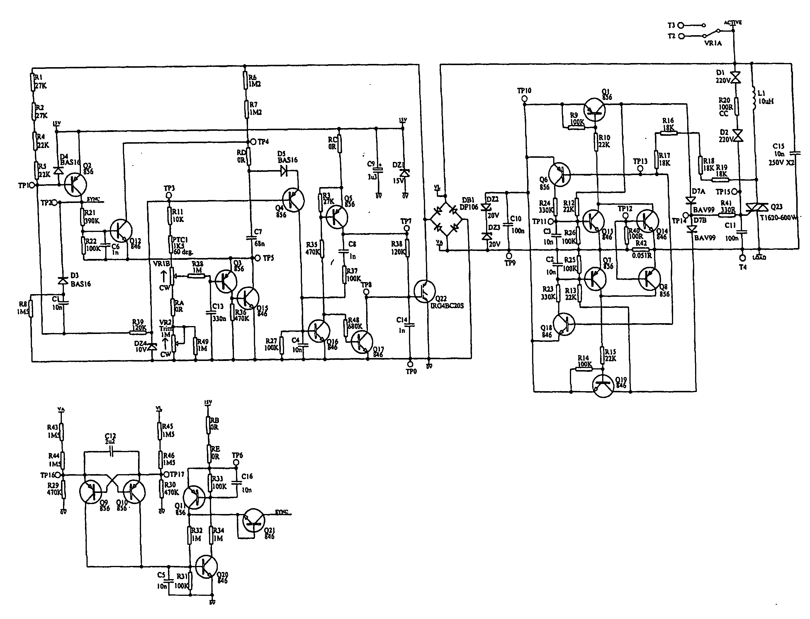 patent us20050168200 - dimmer circuit with improved ripple control