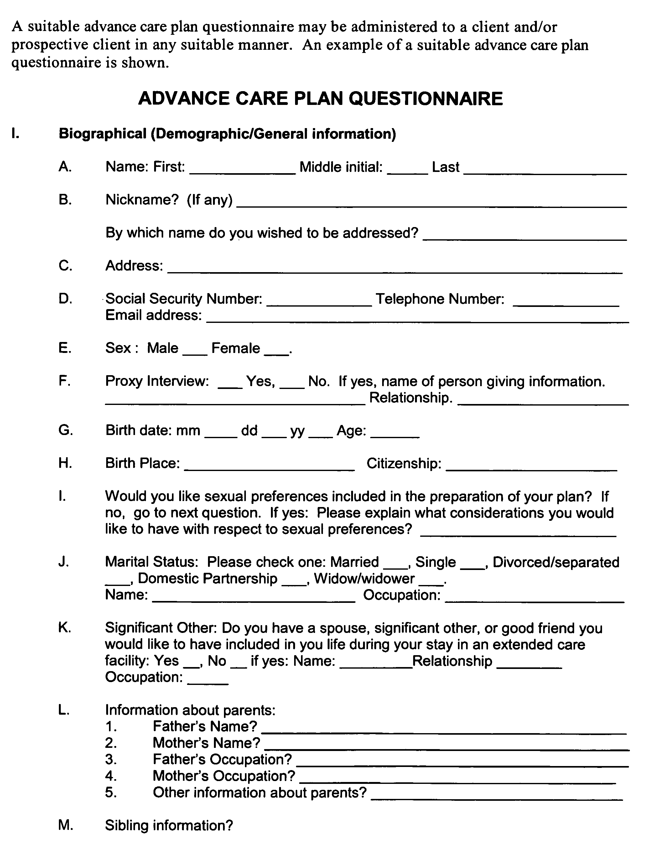 advance care plan template - us20050202383a1 advance care plan google patents