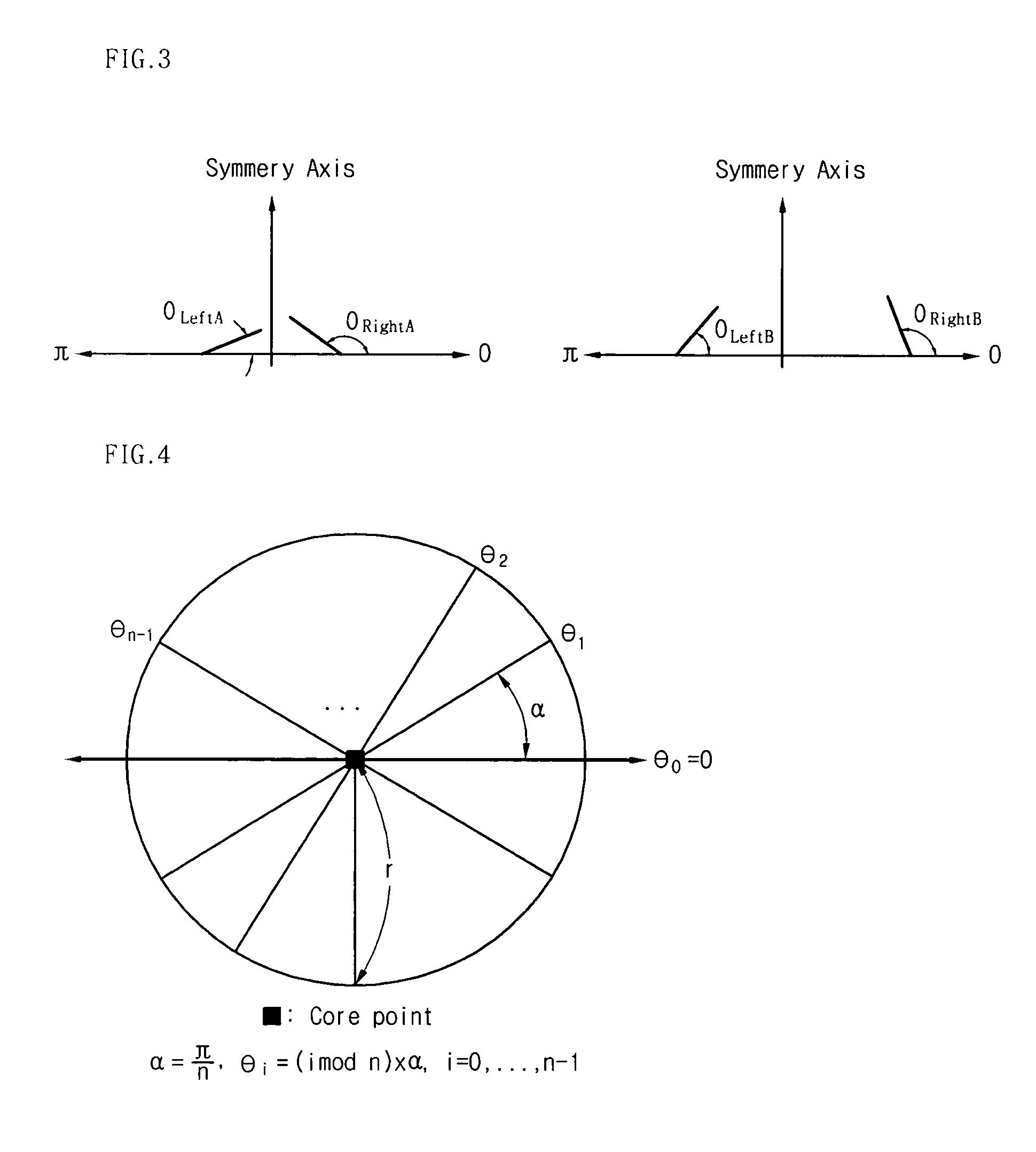 Patent US20050207625 - Fingerprint symmetry axis ...