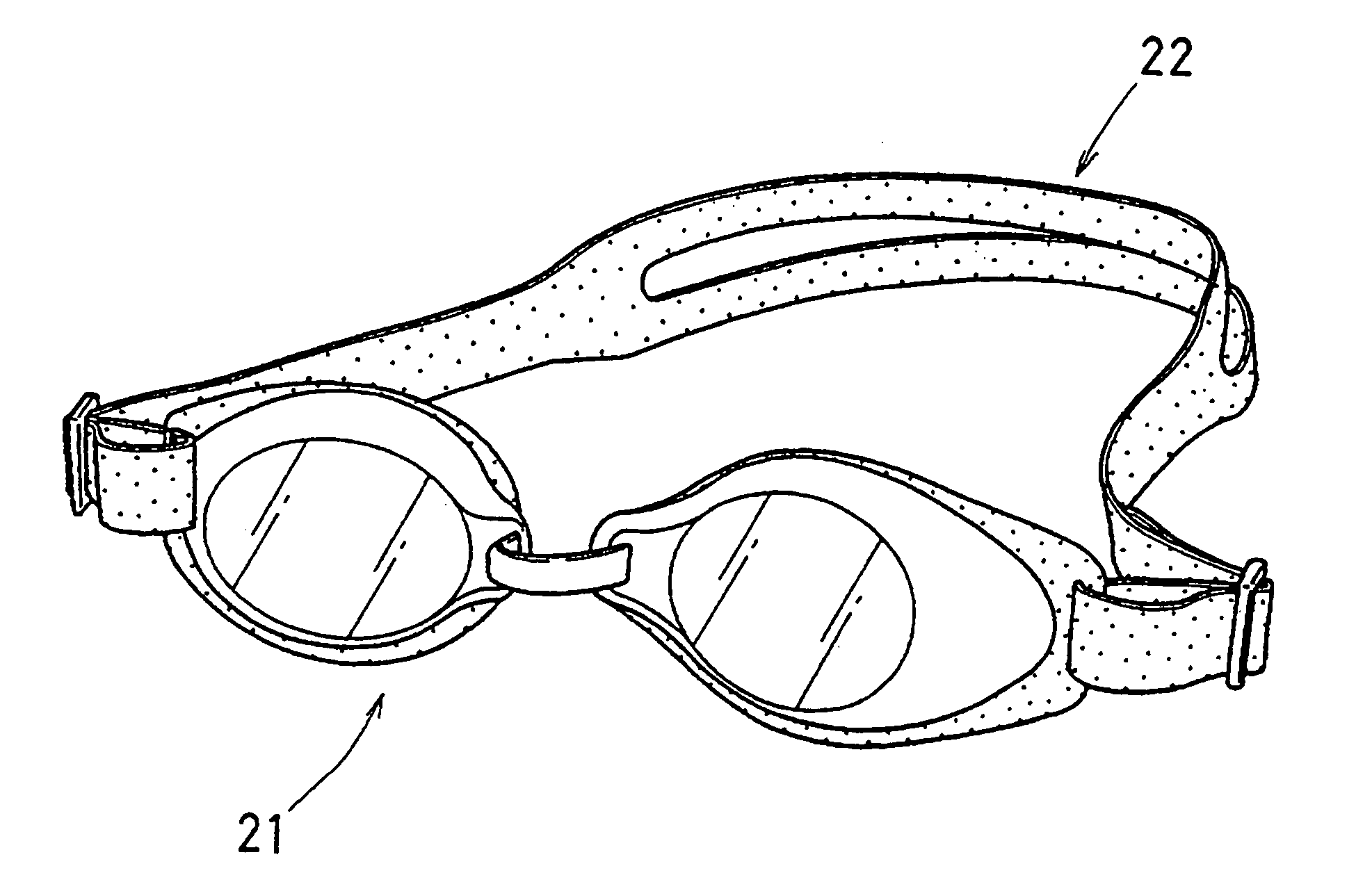 Coloring Pages Of Swim Goggles