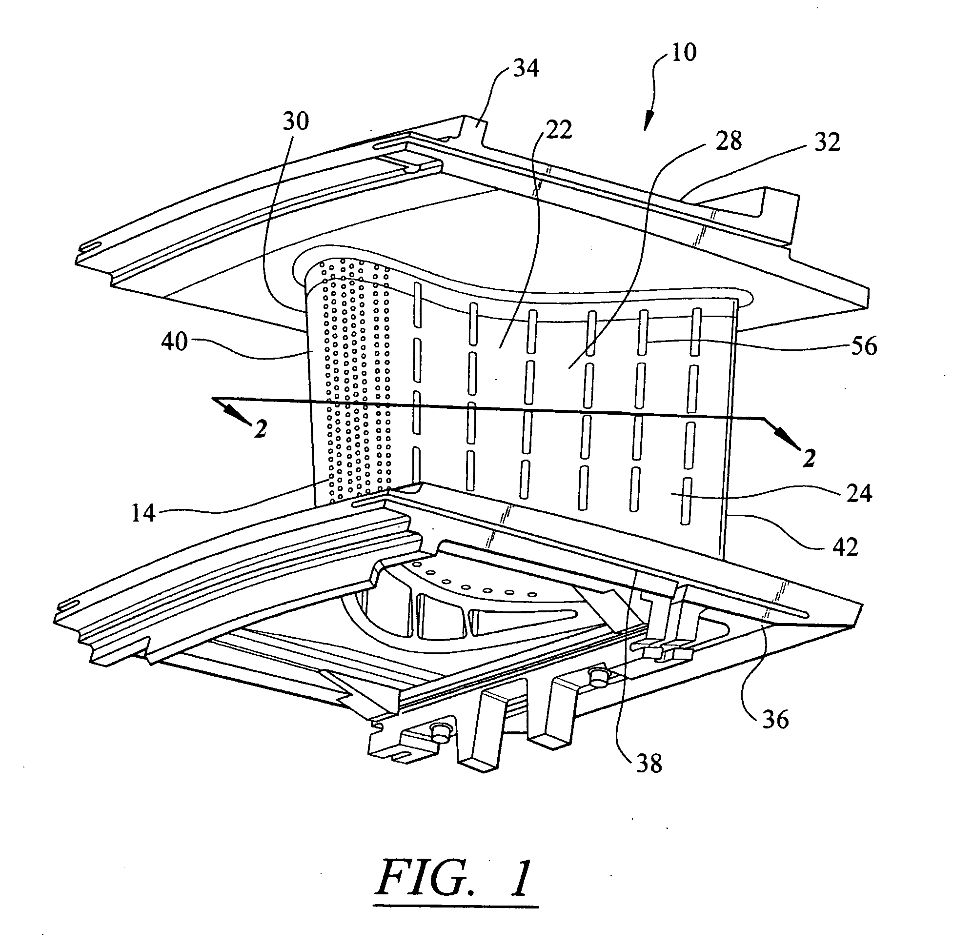 patent us20060002788 - gas turbine vane with integral cooling system