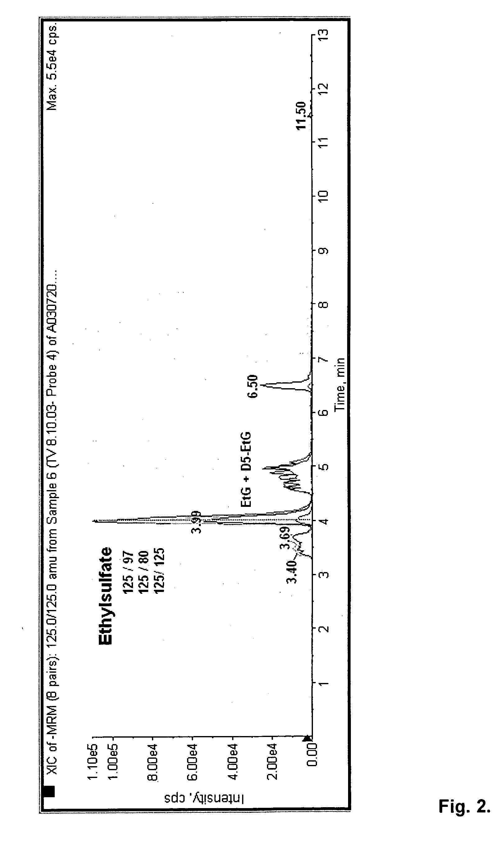 Brevet US20060084134 - Direct ethanol metabolite ethyl