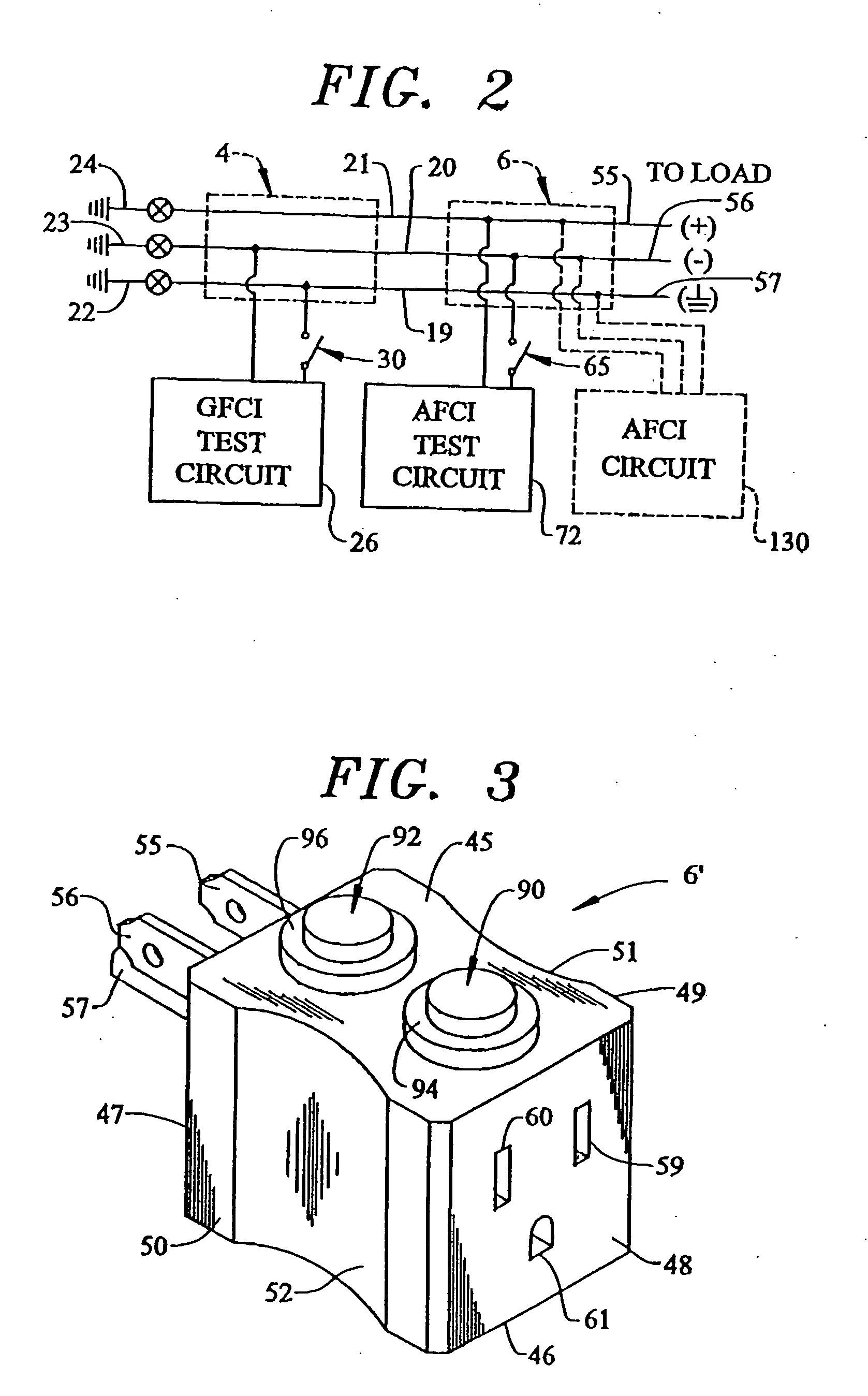 patent us20060103390 - afci circuit test module