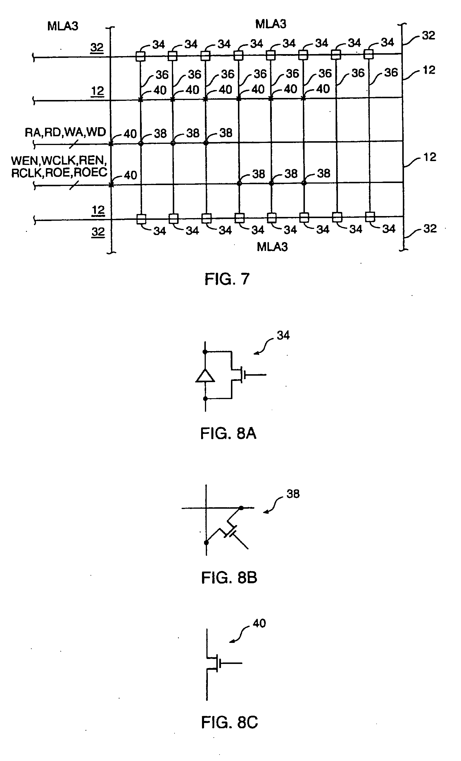 Patente Us20060193181 Sram Bus Architecture And Interconnect To An Figure 8 4x1 Multiplexer With 2x4 Decoder Selector Block Diagram Patent Drawing