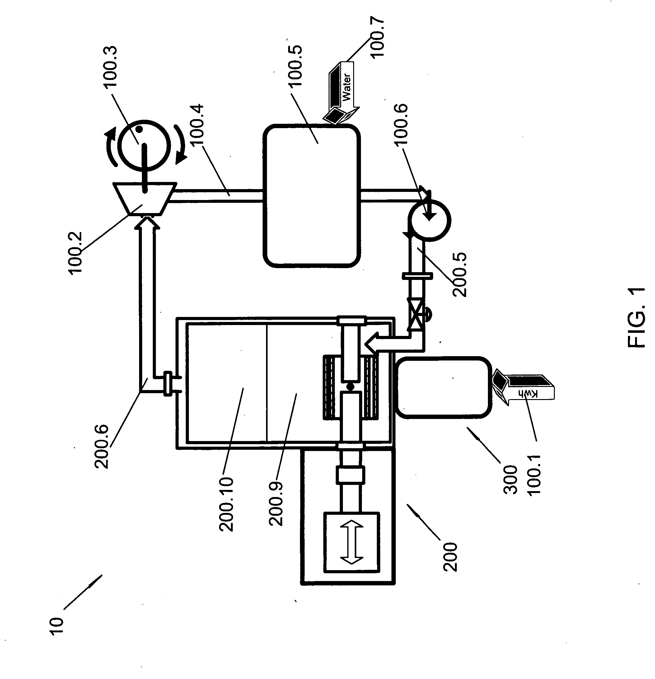 Patent US Arc hydrolysis steam generator apparatus