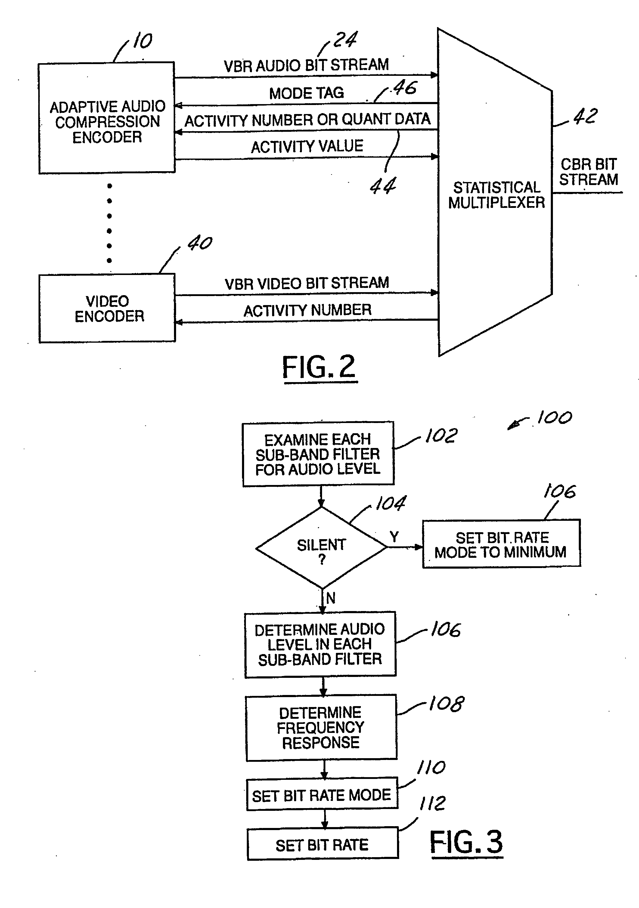 Patent Us20060206314 Adaptive Variable Bit Rate Audio Compression Stereo Coder Multiplexer Drawing