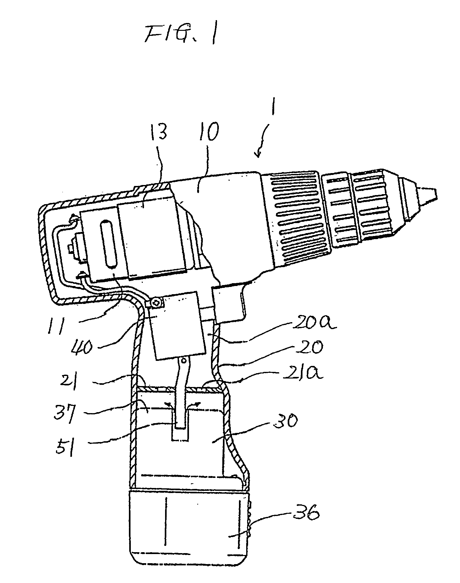 patent us20060222930 - battery pack and cordless power tool having the same