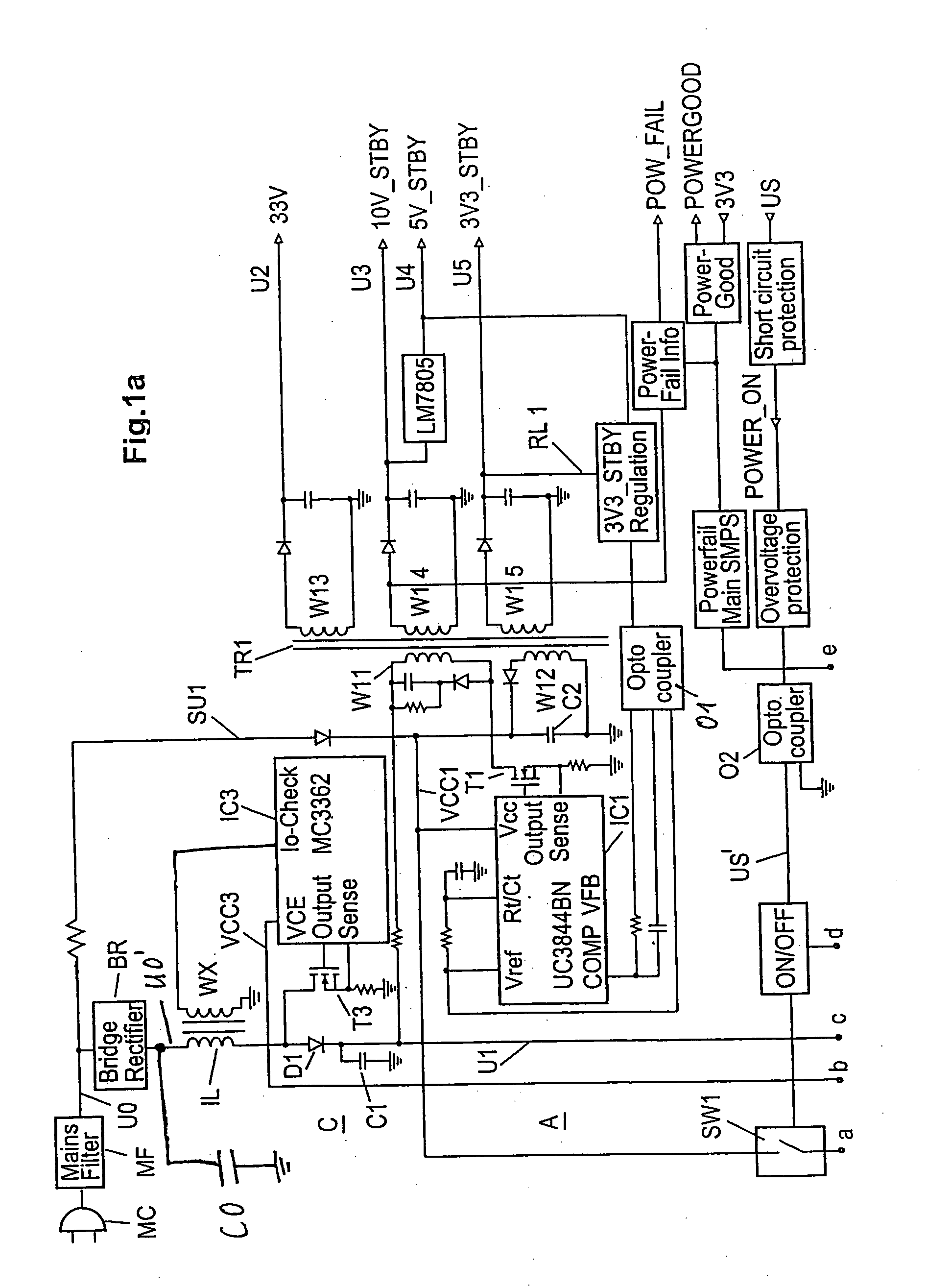 Brevet Us20060267565 Power Supply Unit Google Brevets Increase The Current Ic Lm7805 Patent Drawing