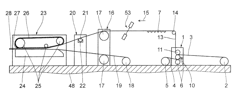 Patent US20060278342 - Corrugating machine - Google Patents