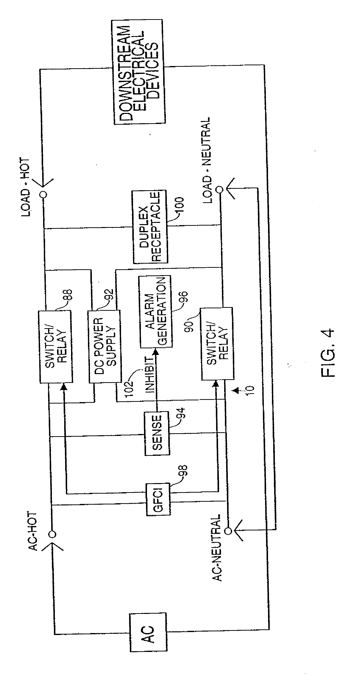 Patent Us20060285262 Ground Fault Circuit Interrupter Three Way Switch Miswired Drawing