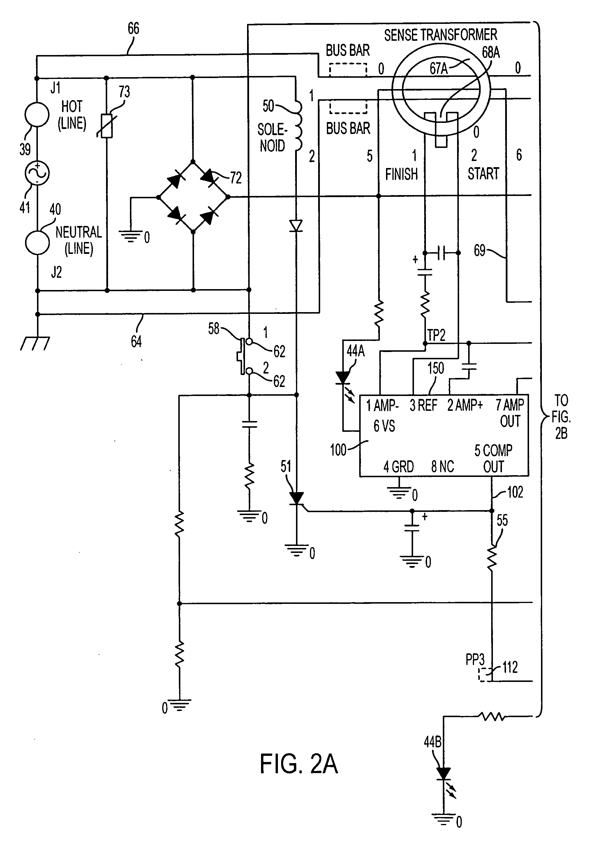 Patent Us20070035898 Self Testing Ground Fault Circuit Interrupter Three Way Switch Miswired Drawing