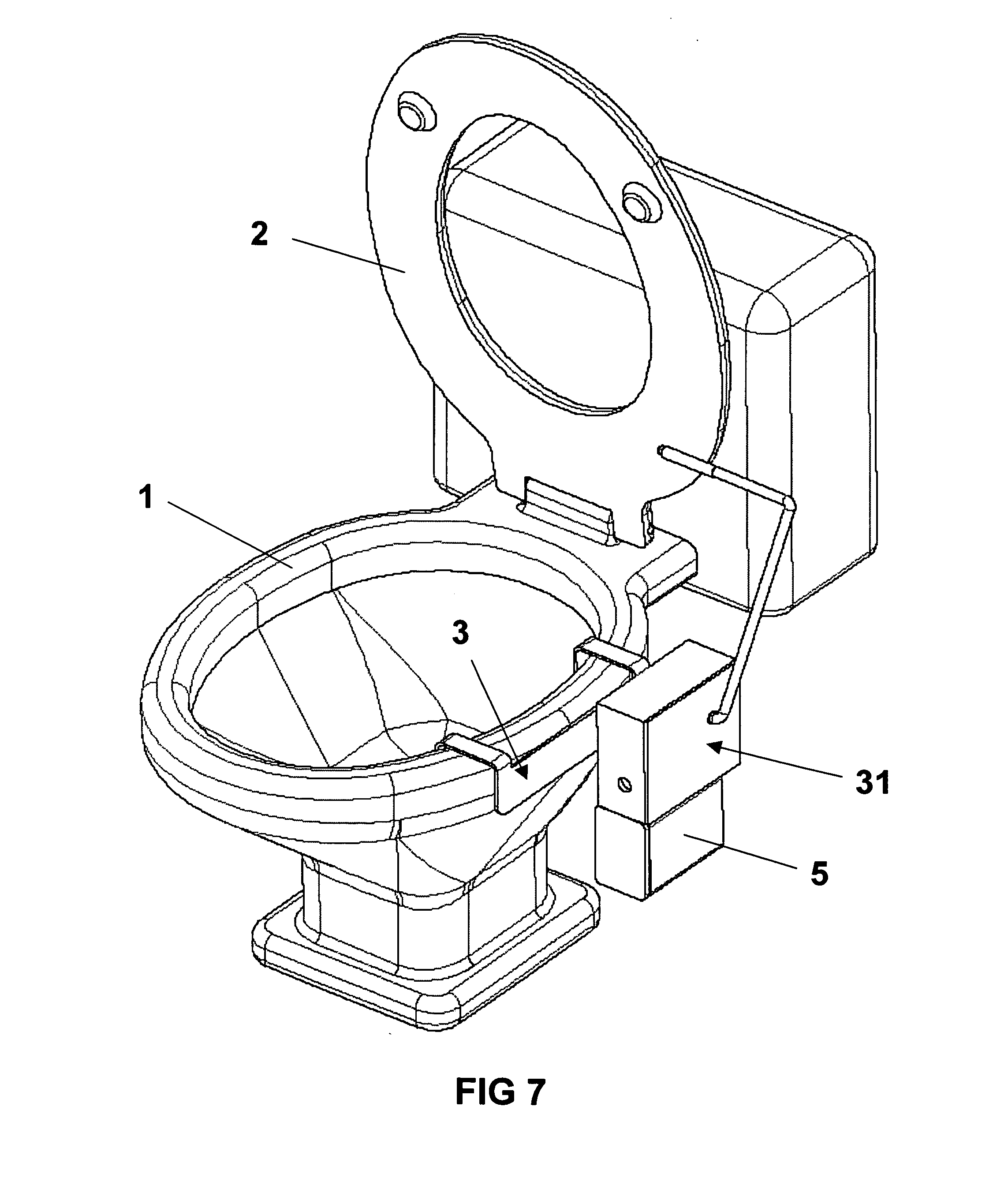 Patent DrawingPatent US20070056085   Powered  side attached toilet seat lift  . Toilet Drawing. Home Design Ideas