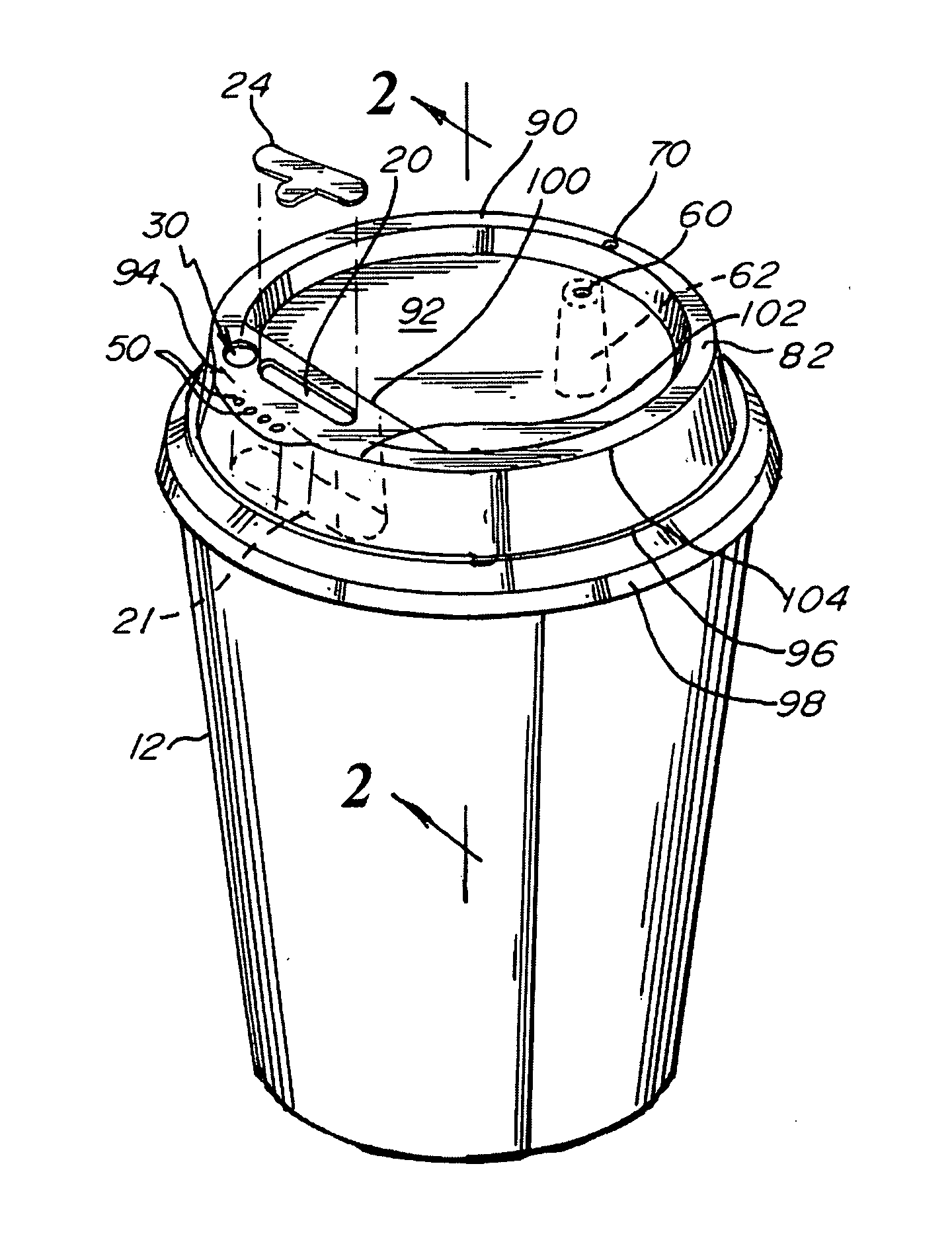 Patent us20070075081 reusable container with flavor for Chamber of flavours
