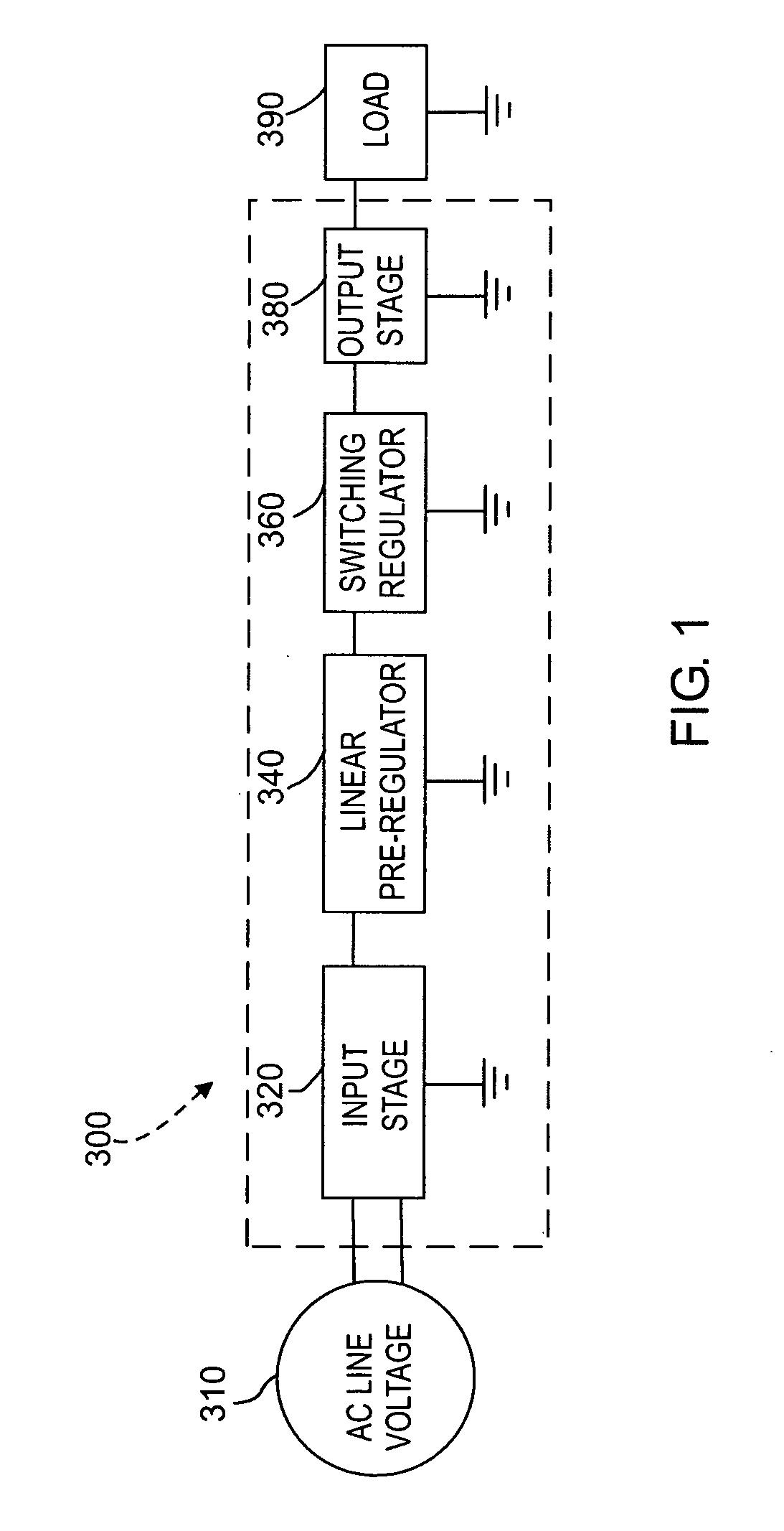 Linear Regulator With Switching Preregulator Circuit Diagram