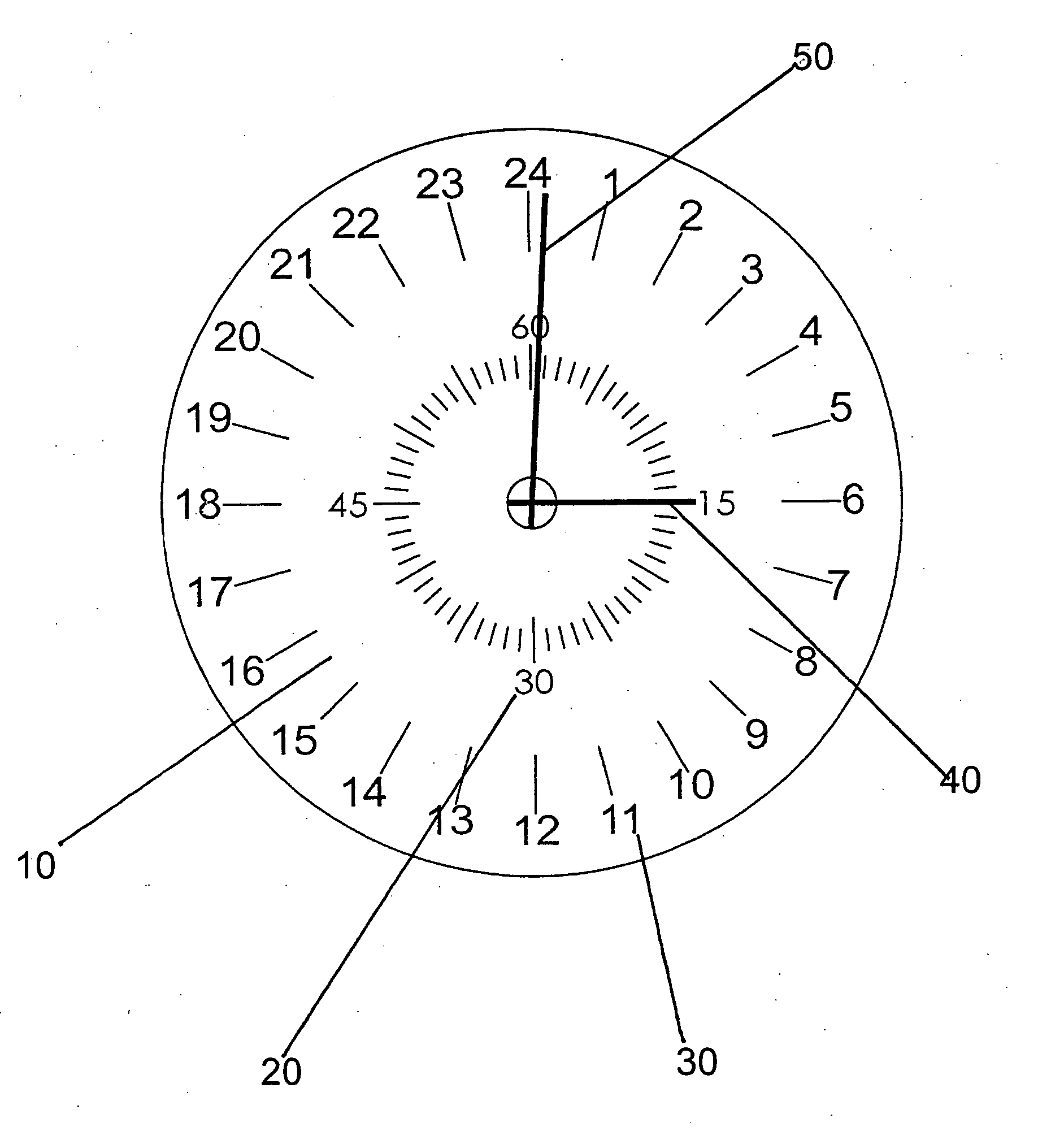 patent us20070121426 - 24-hour watch or clock