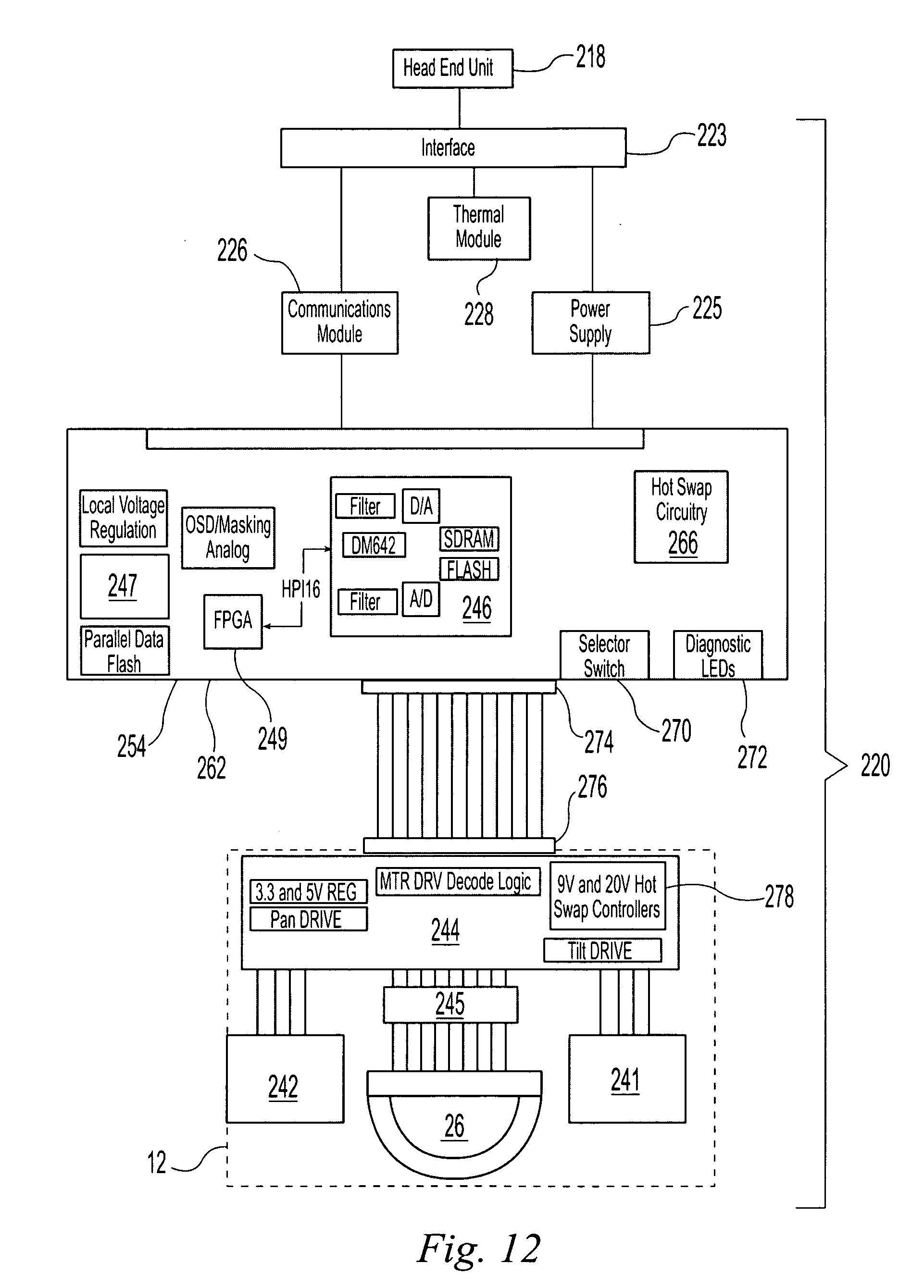 Patent Us20070126872 Modular Surveillance Camera System Google Sensormatic Ptz Wiring Diagram Drawing