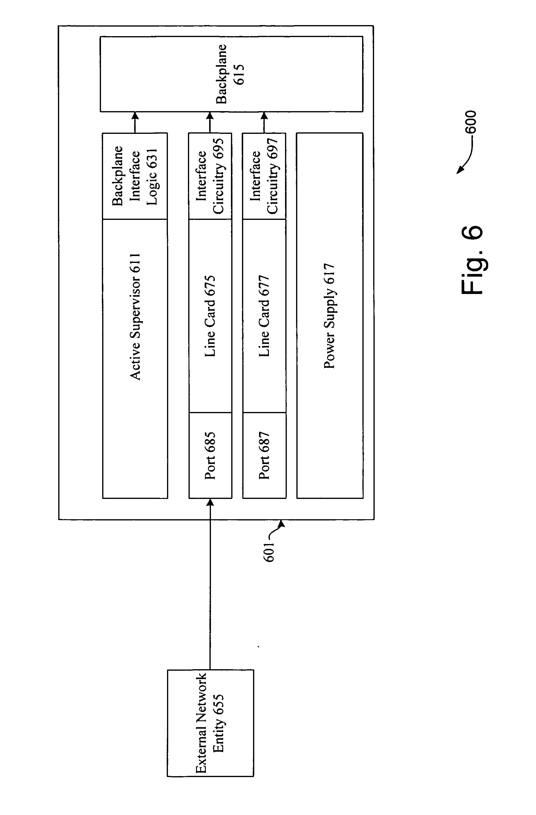 Patent US20070159987 - Seamless spanning tree restart of a single